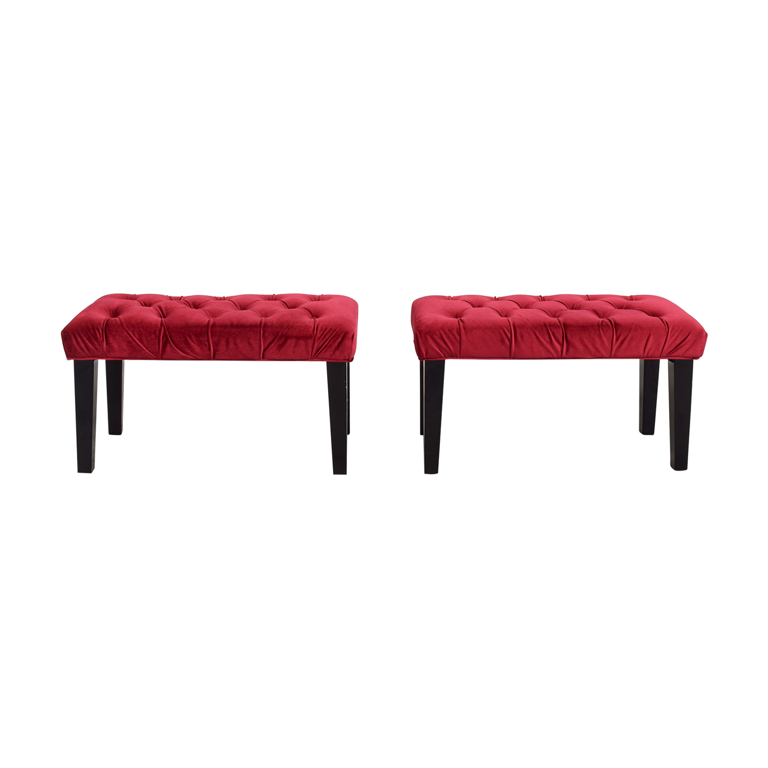 buy  Red Tufted Benches online