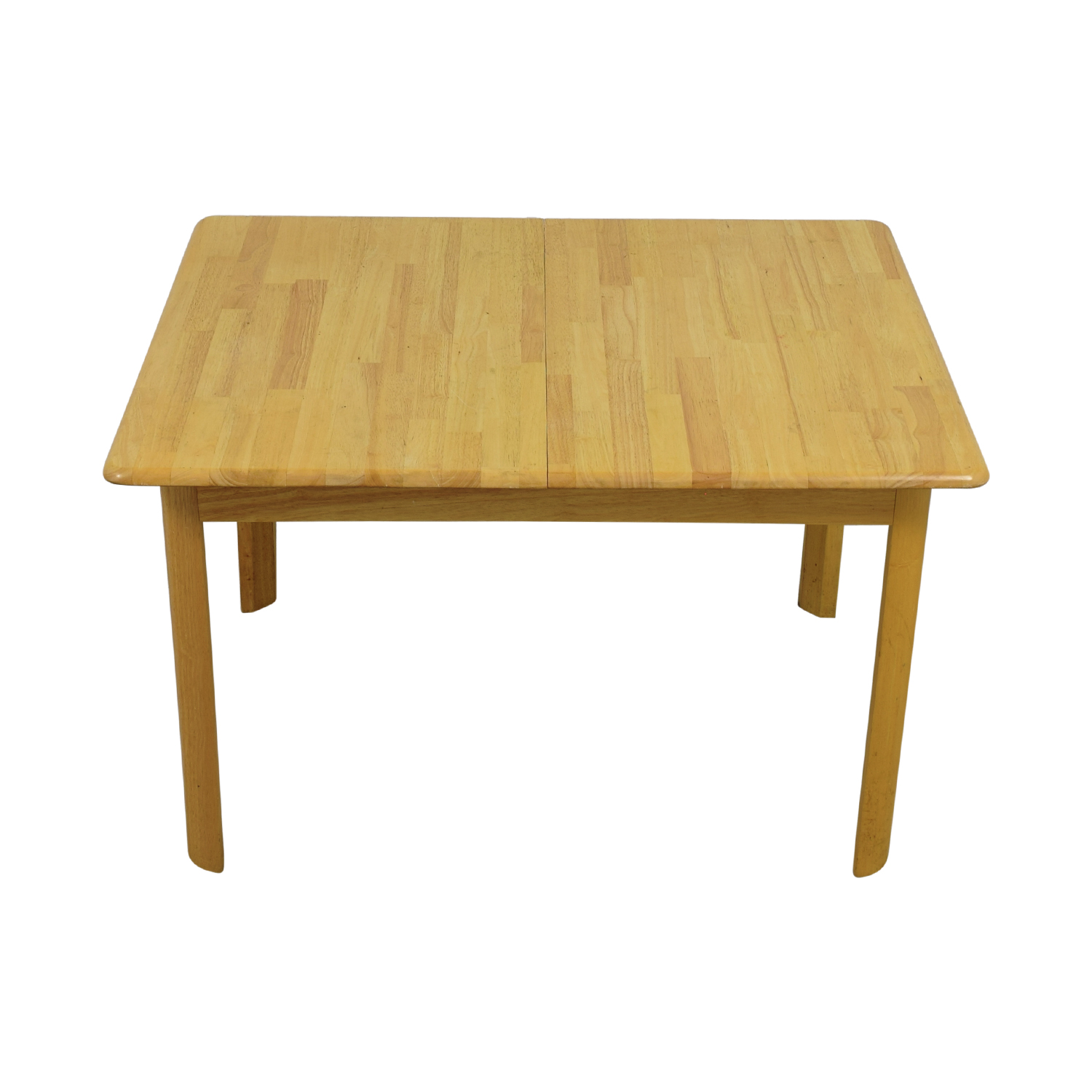 Natural Wood Dining Table with Extension Leaf second hand
