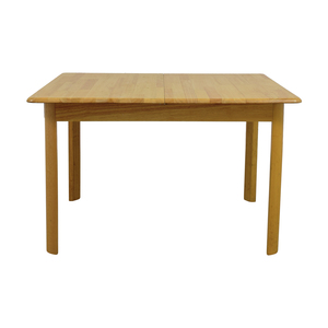 Natural Wood Dining Table with Extension Leaf dimensions
