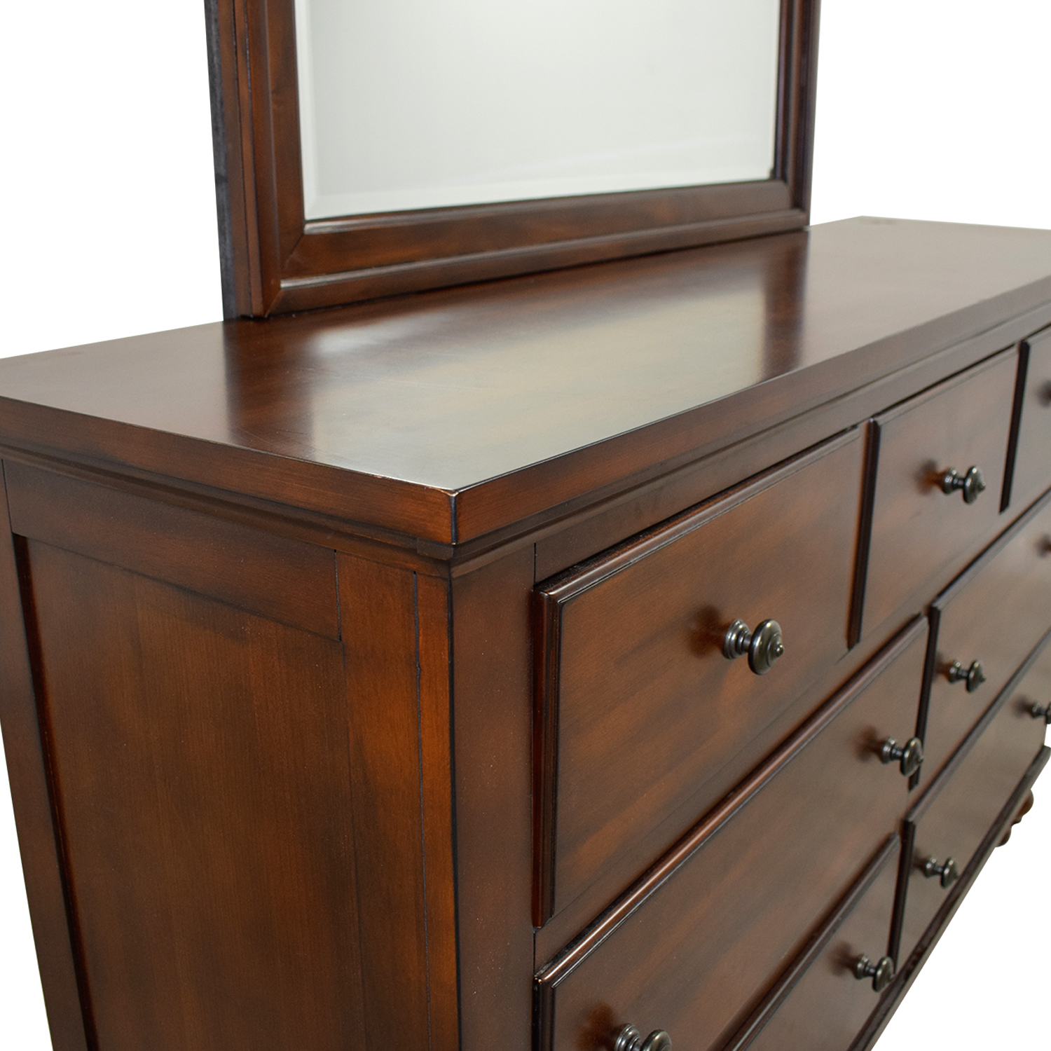 Awesome 46 Off Leons Leons Seven Drawer Dresser With Mirror Storage Dailytribune Chair Design For Home Dailytribuneorg