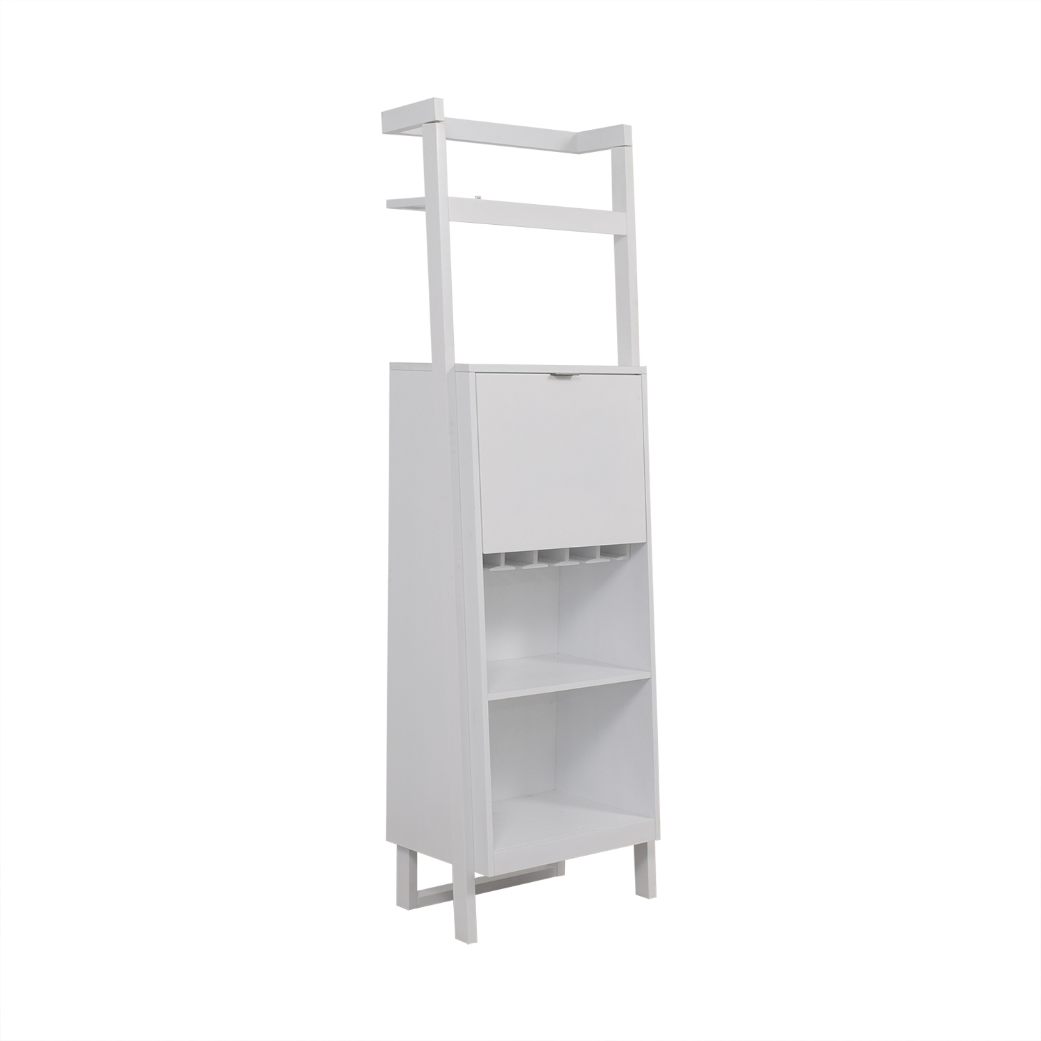 Crate & Barrel Crate & Barrel Sawyer White Leaning Spirit Cabinet nyc