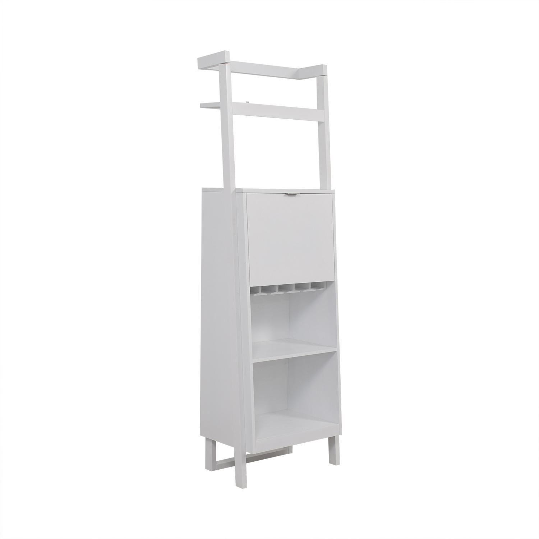 Crate & Barrel Crate & Barrel Sawyer White Leaning Spirit Cabinet nj