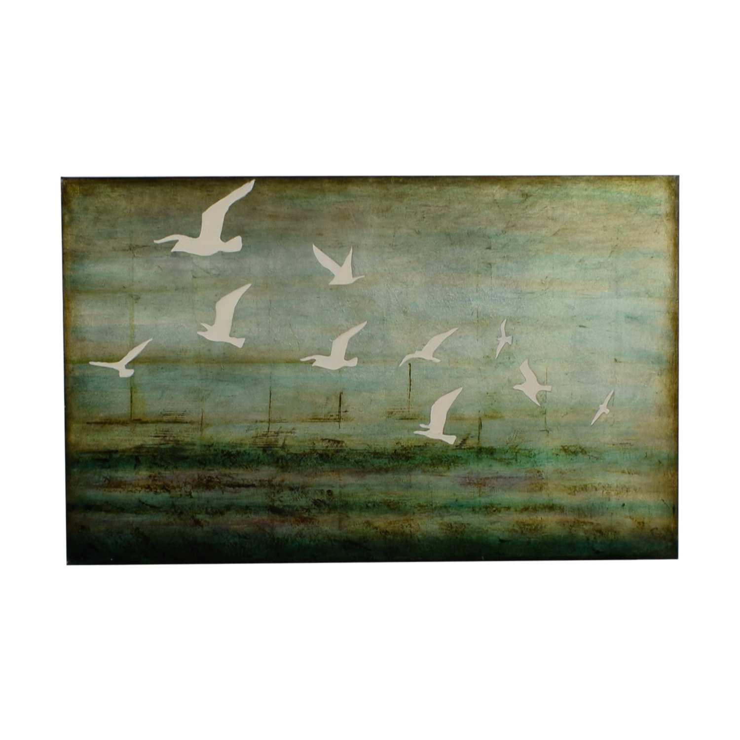 West Elm West Elm Green Seagull Canvas price
