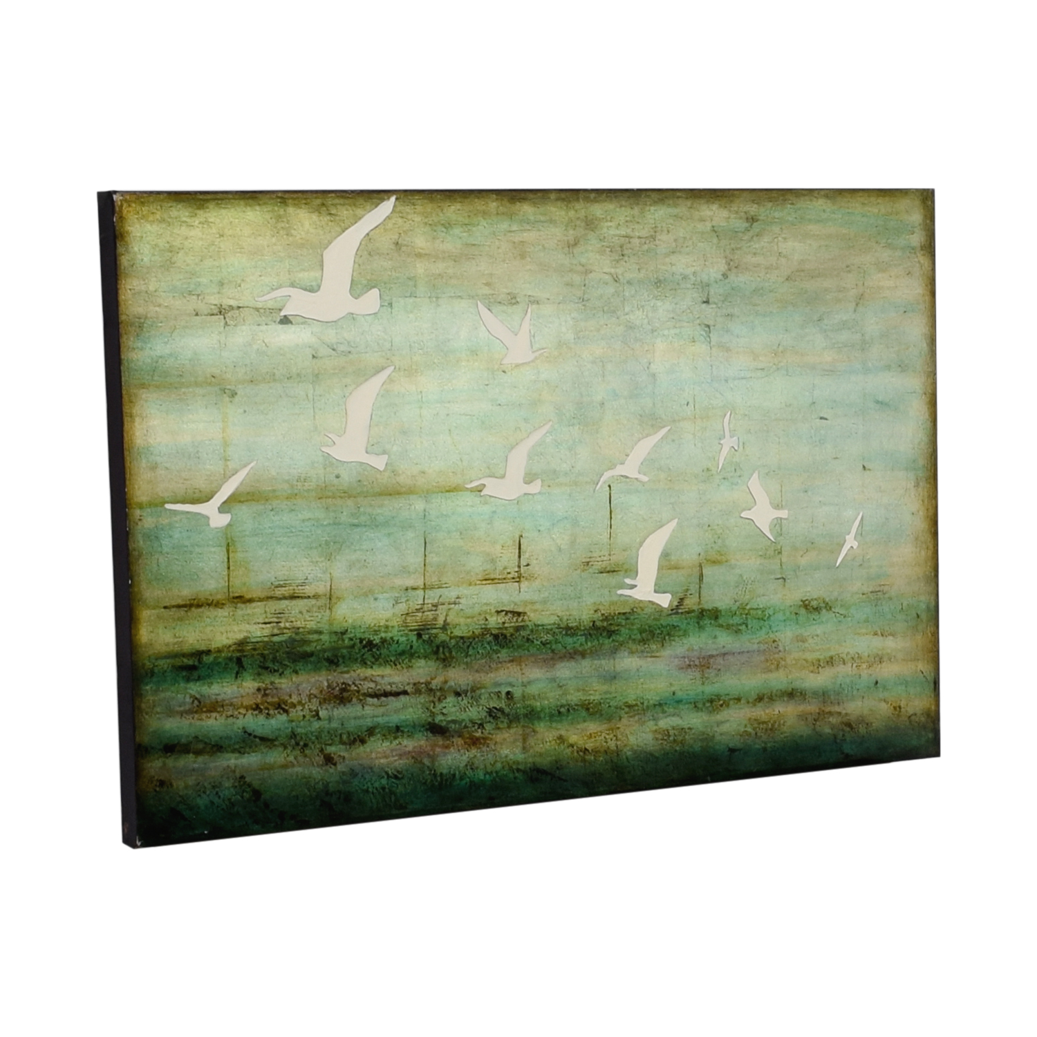 buy West Elm West Elm Green Seagull Canvas online