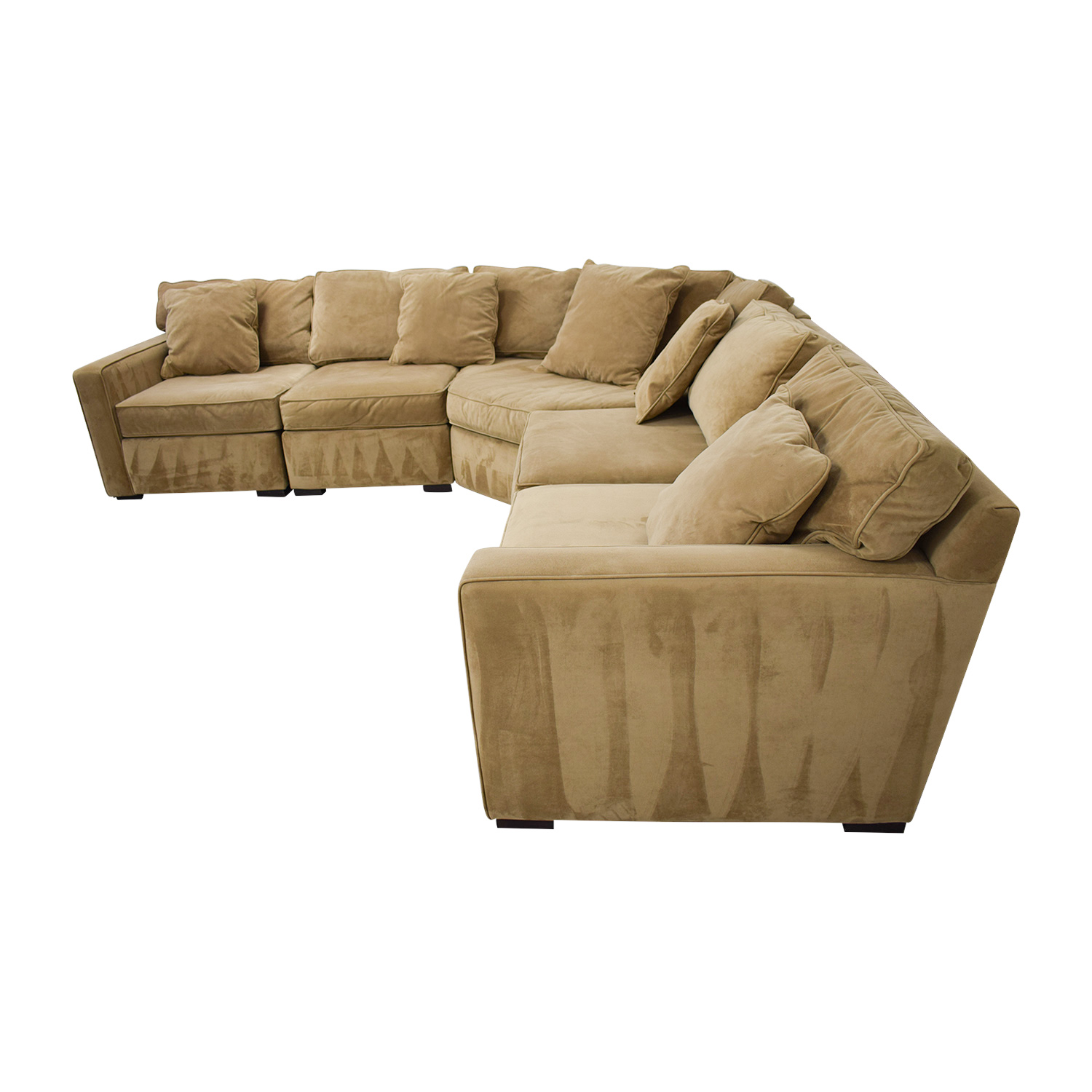 shop Macy's Tan Corner L-Shaped Sectional Macy's