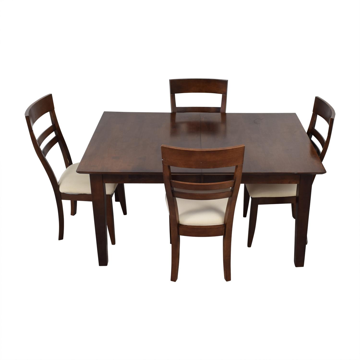Macys Wood Expandable Dining Table Chairs Hand Room Sets Sale Owner
