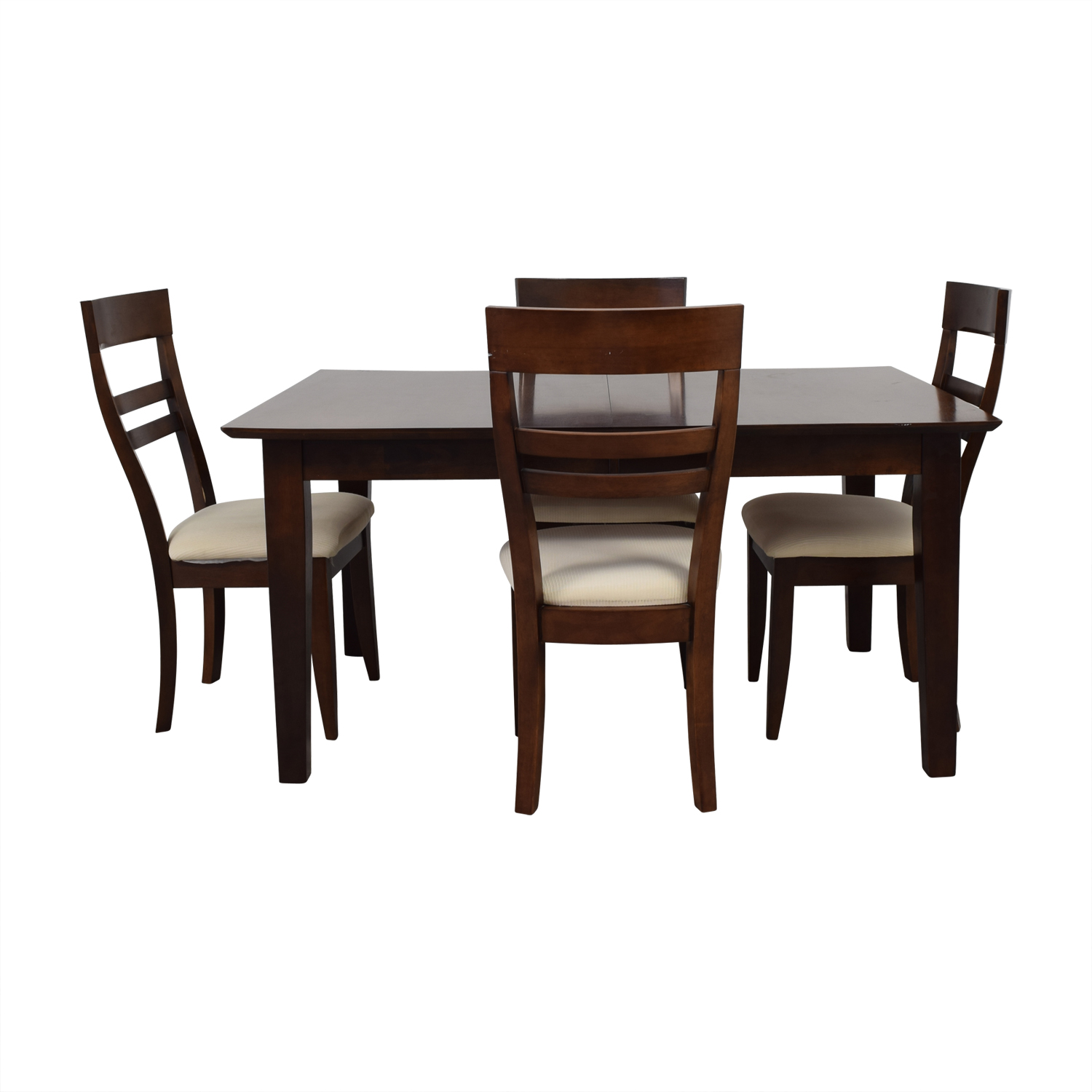 Macy's Macy's Wood Expandable Dining Table with Chairs dimensions