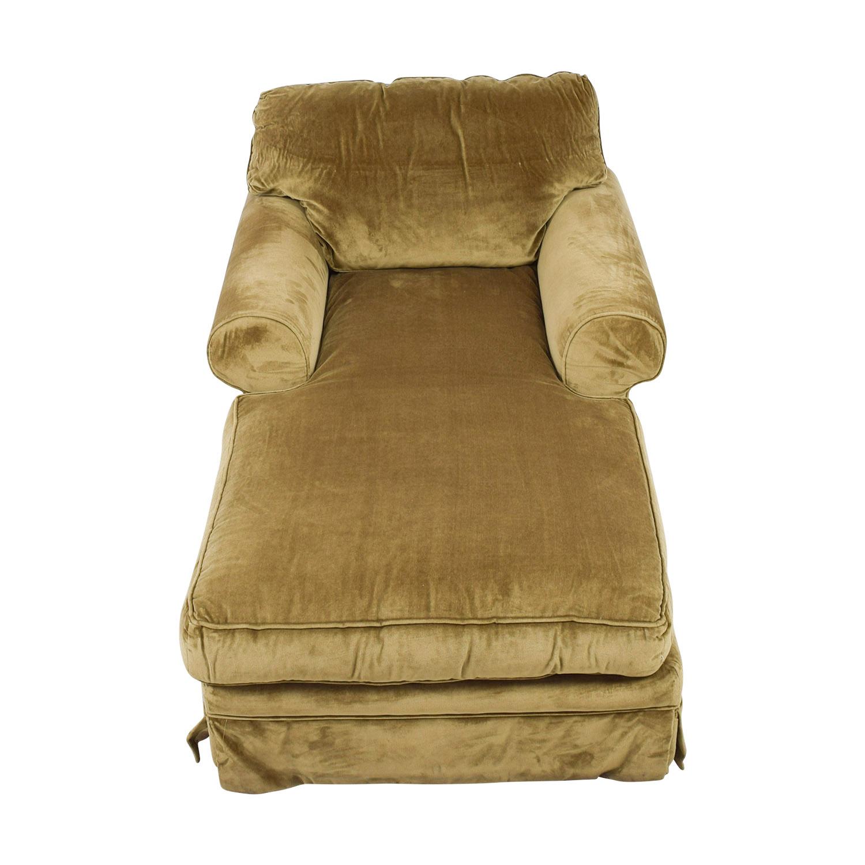 buy Einstein Moomjy Tan Chaise Einstein Moomjy Chaises
