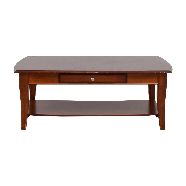 Single Drawer Wood Coffee Table nyc
