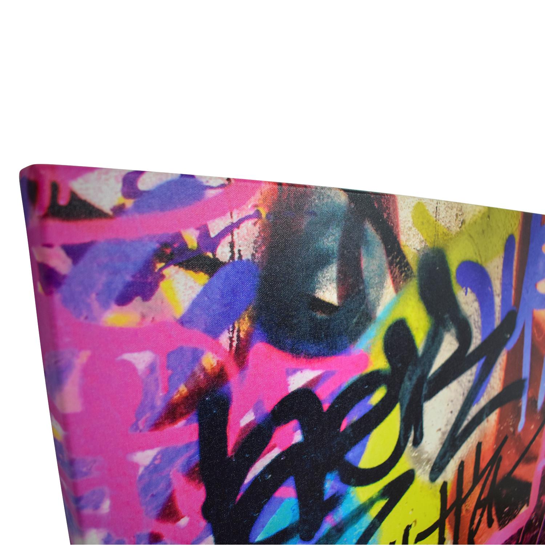 Graffiti Wall Art Print On Canvas / Wall Art