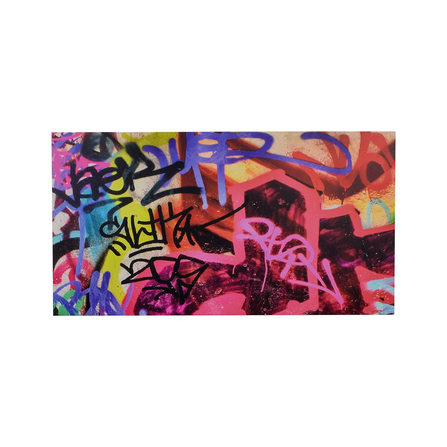 Graffiti Wall Art Print On Canvas on sale