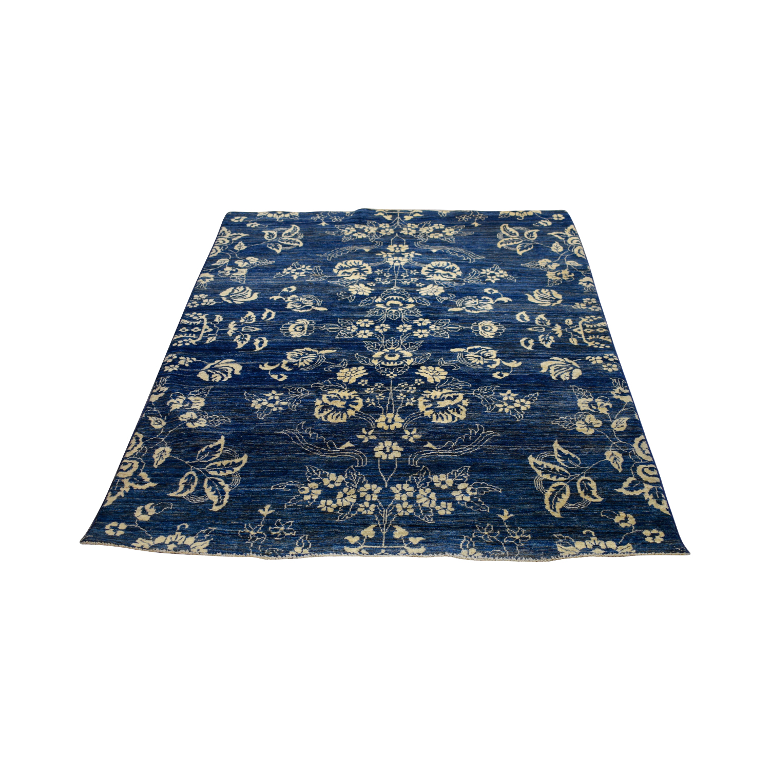 Peshawar Ziegler Peshawar Ziegler Oriental Blue Black and White Floral Rug on sale