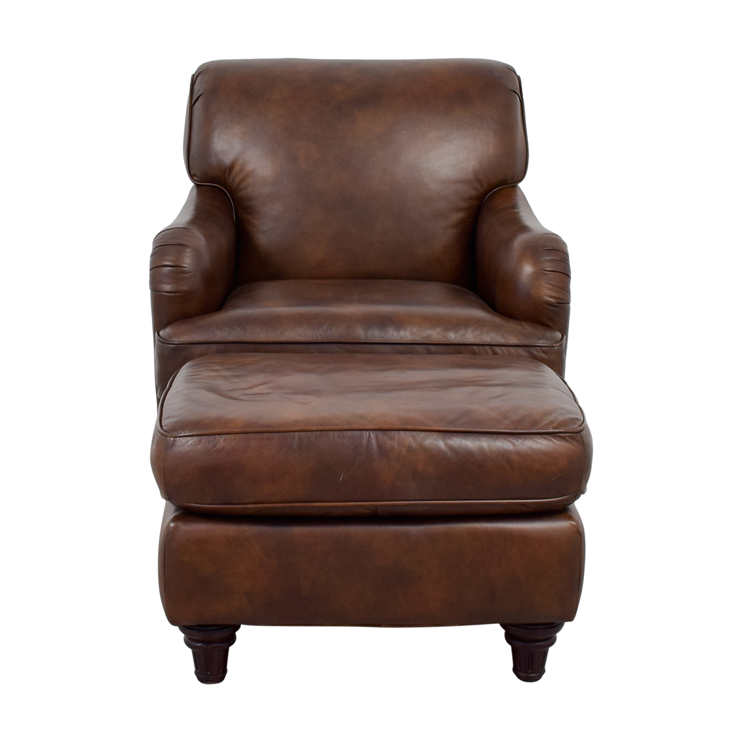 Lane Leather Lane Leather Chair and Ottoman used