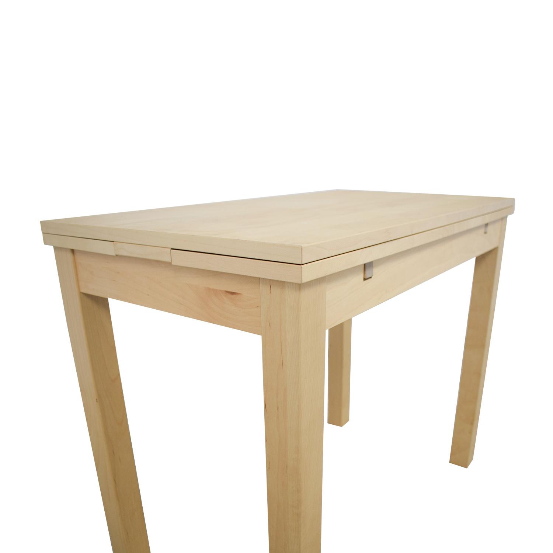 85 Off Ikea Bjursta Natural Kitchen Table Tables