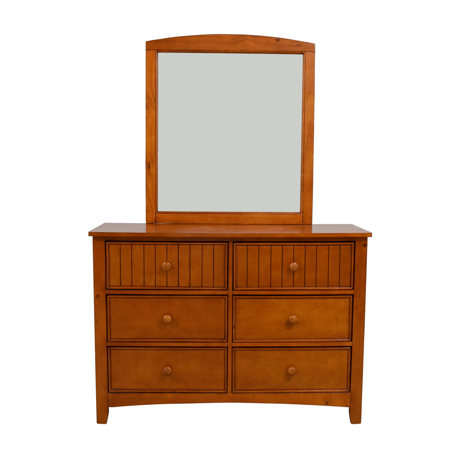 Classic Wooden Dresser with Mirror nj