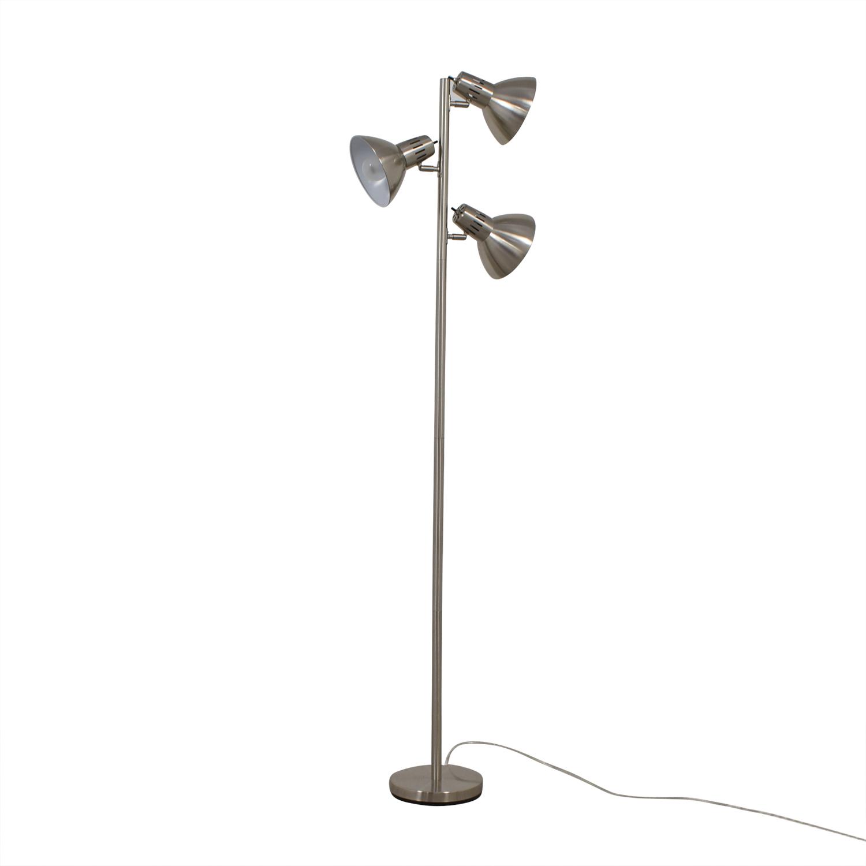 Chrome Three Bulb Floor Lamp for sale
