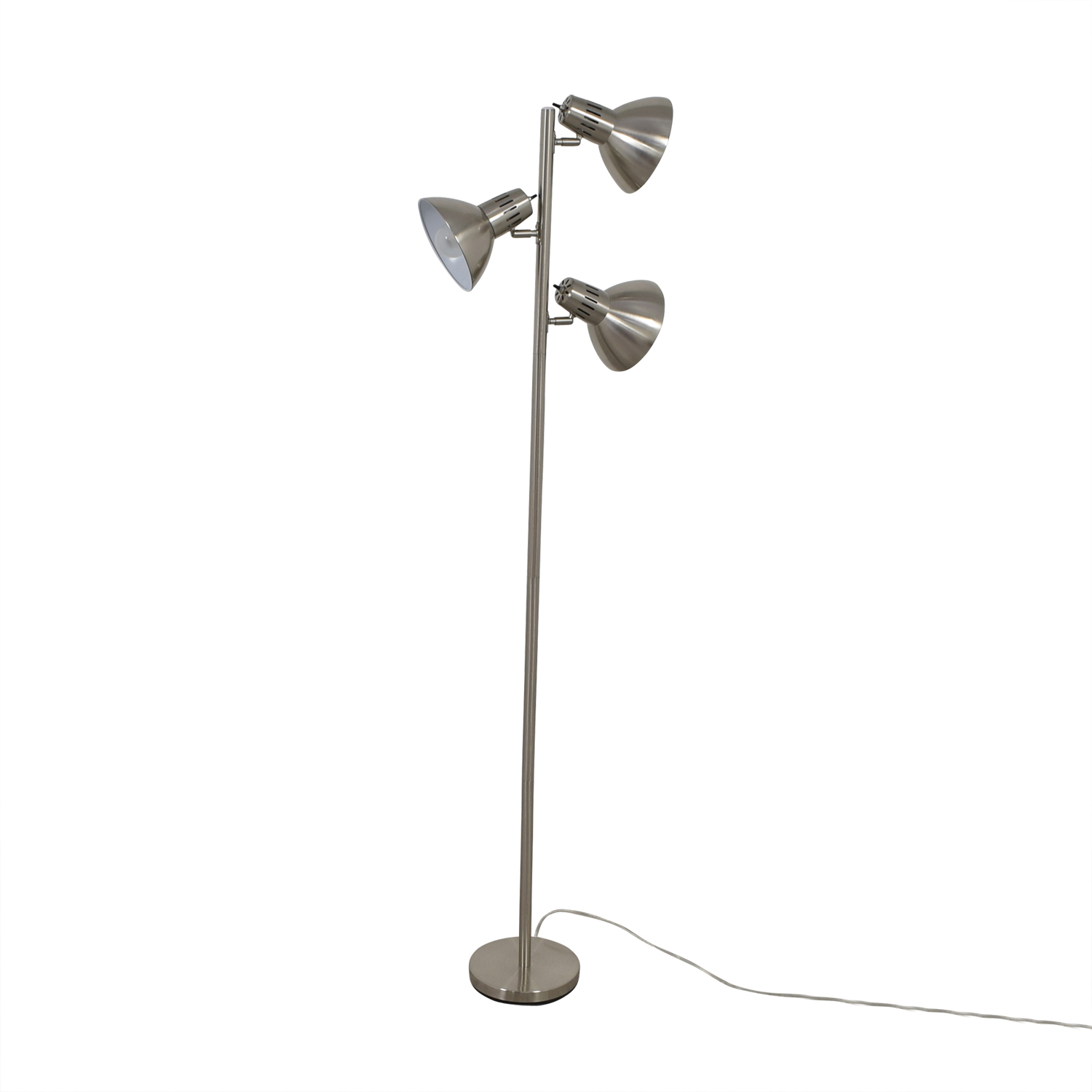 Chrome Three Bulb Floor Lamp