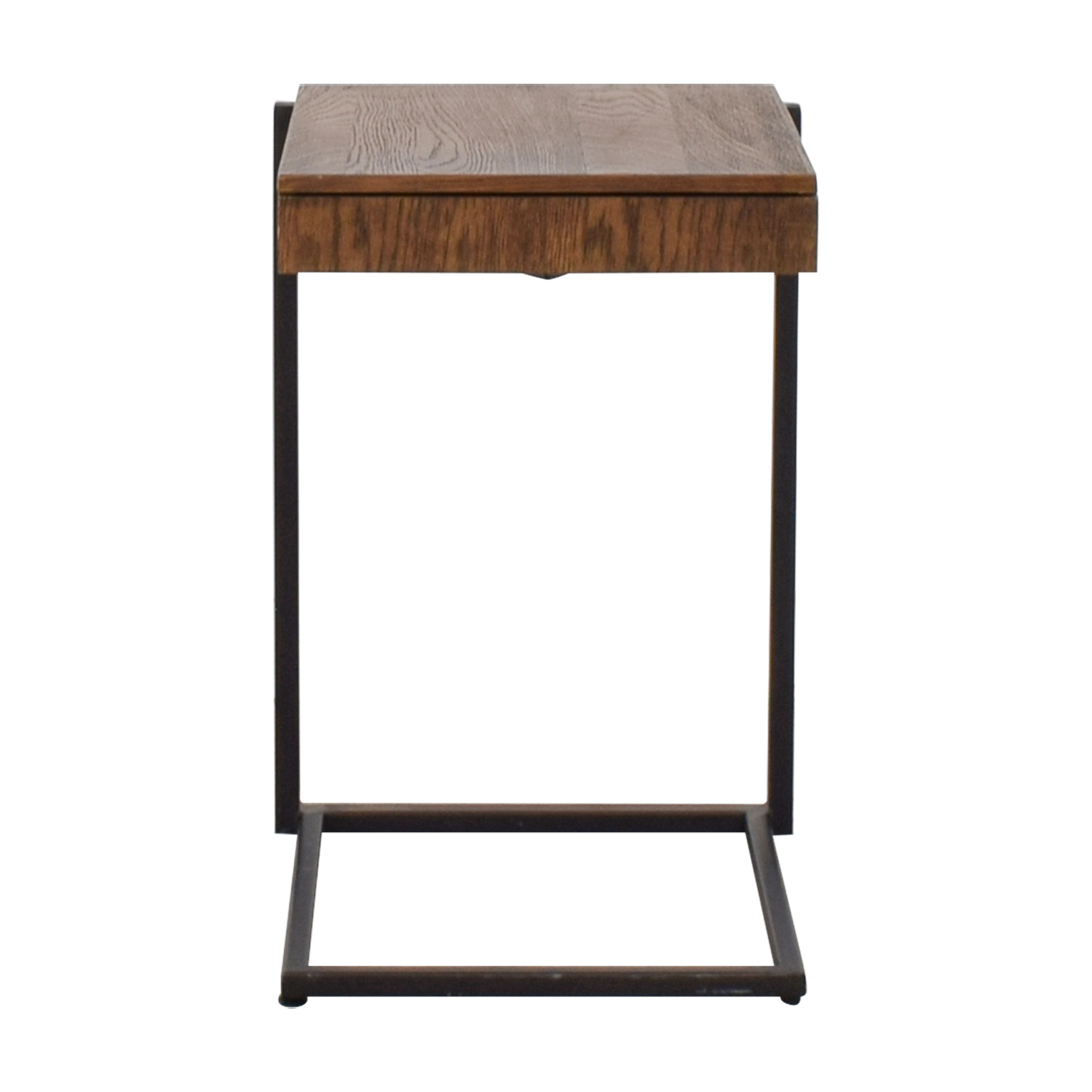 58 Off Rustic Wood And Metal Nightstand Tables
