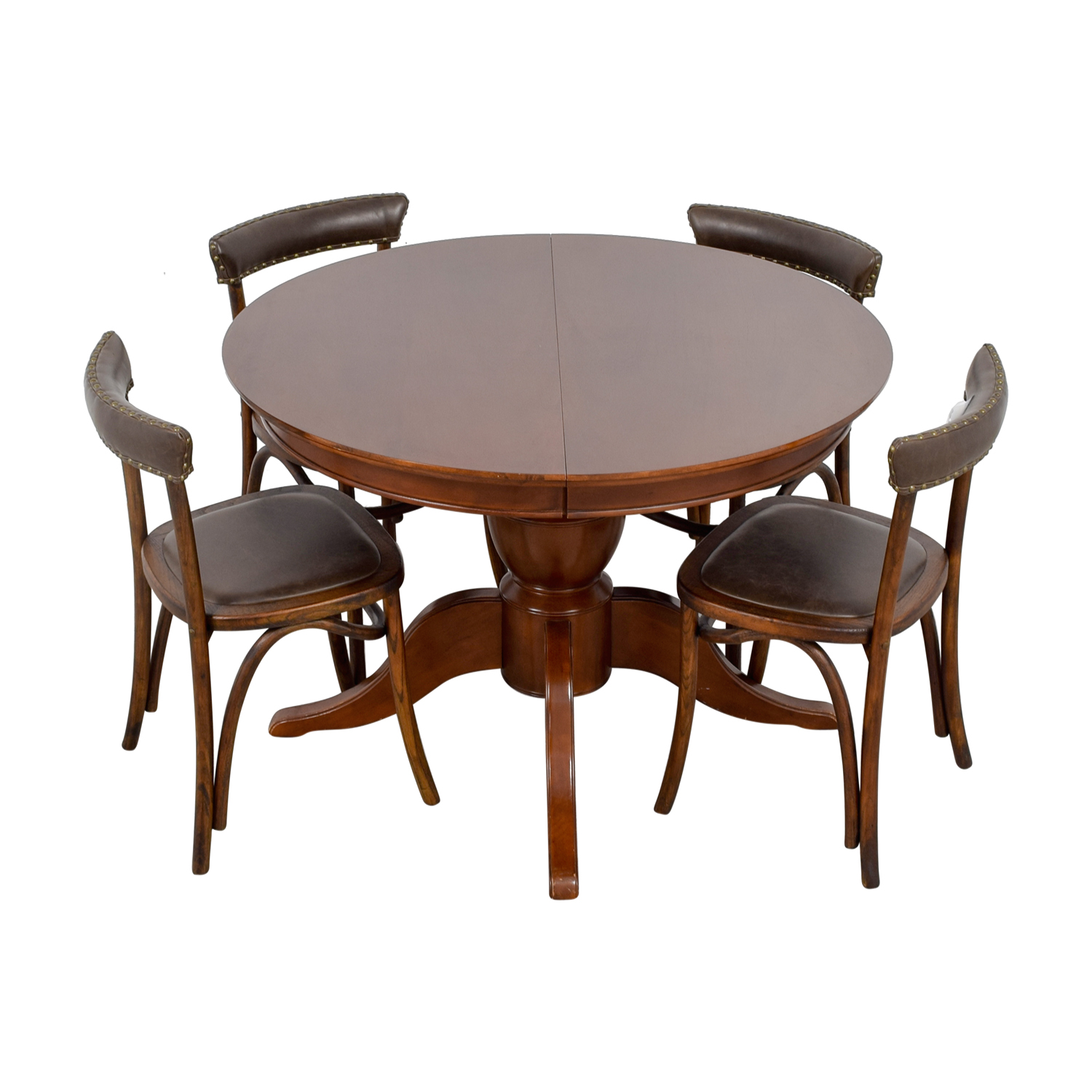 Pottery Barn Pottery Barn Round Spindle Table with Extension Leaf Dining Set used