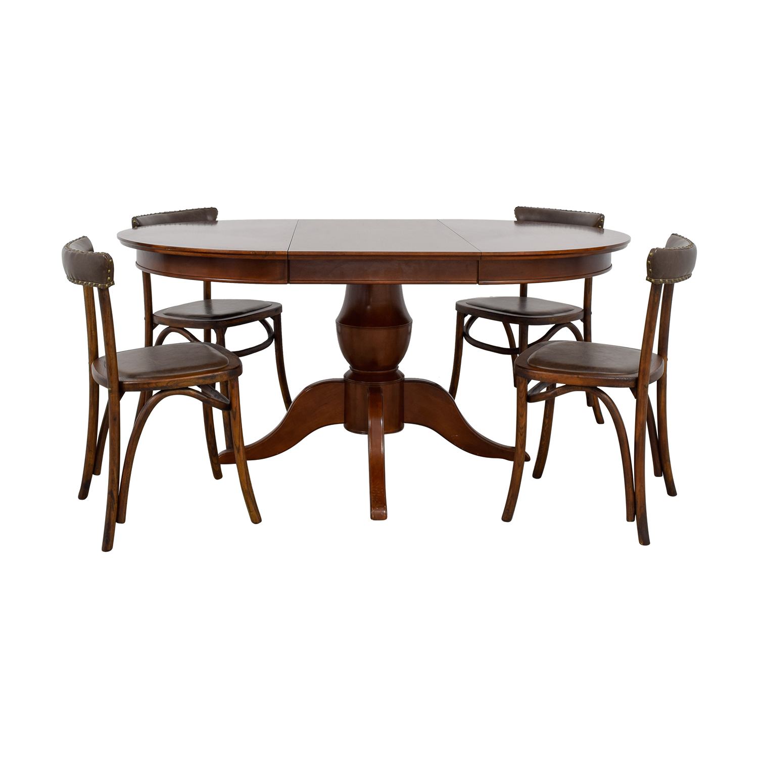 Pottery Barn Pottery Barn Round Spindle Table with Extension Leaf Dining Set price