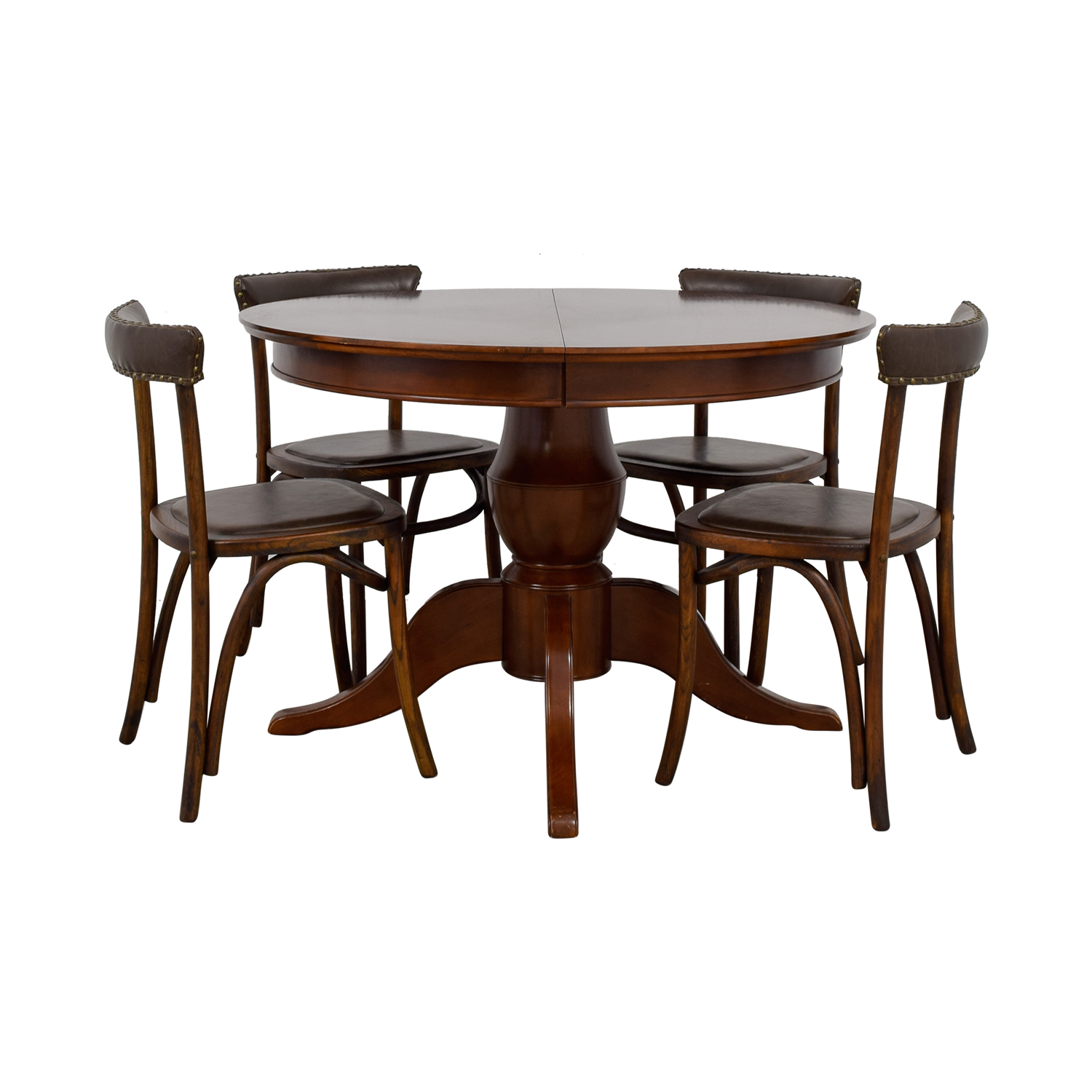 shop Pottery Barn Round Spindle Table with Extension Leaf Dining Set Pottery Barn Dining Sets