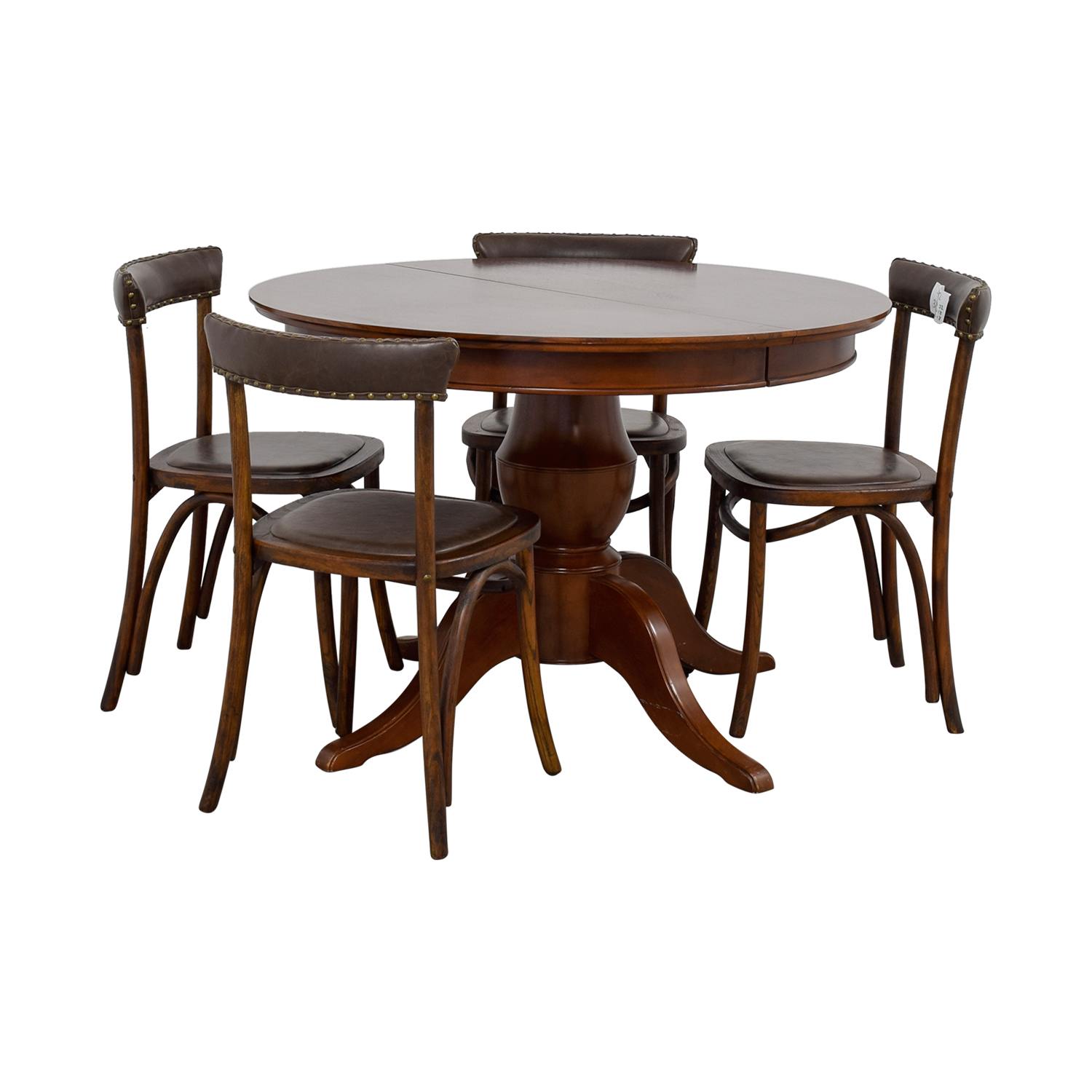 Pottery Barn Round Spindle Table with Extension Leaf Dining Set / Tables