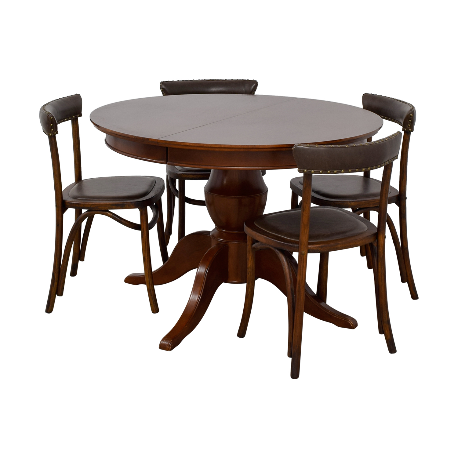 buy Pottery Barn Round Spindle Table with Extension Leaf Dining Set Pottery Barn Dining Sets
