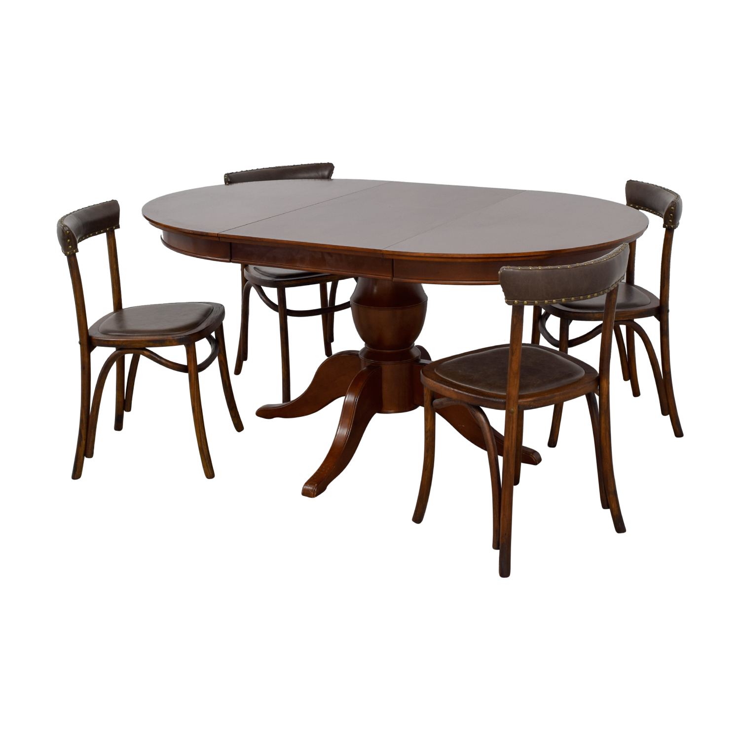 Pottery Barn Pottery Barn Round Spindle Table with Extension Leaf Dining Set for sale