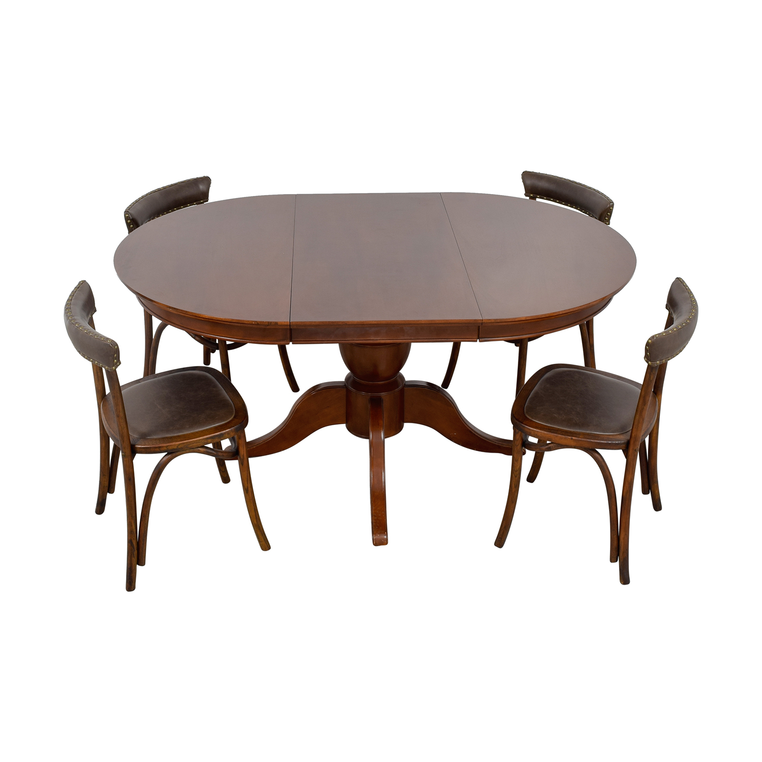 Pottery Barn Pottery Barn Round Spindle Table with Extension Leaf Dining Set discount