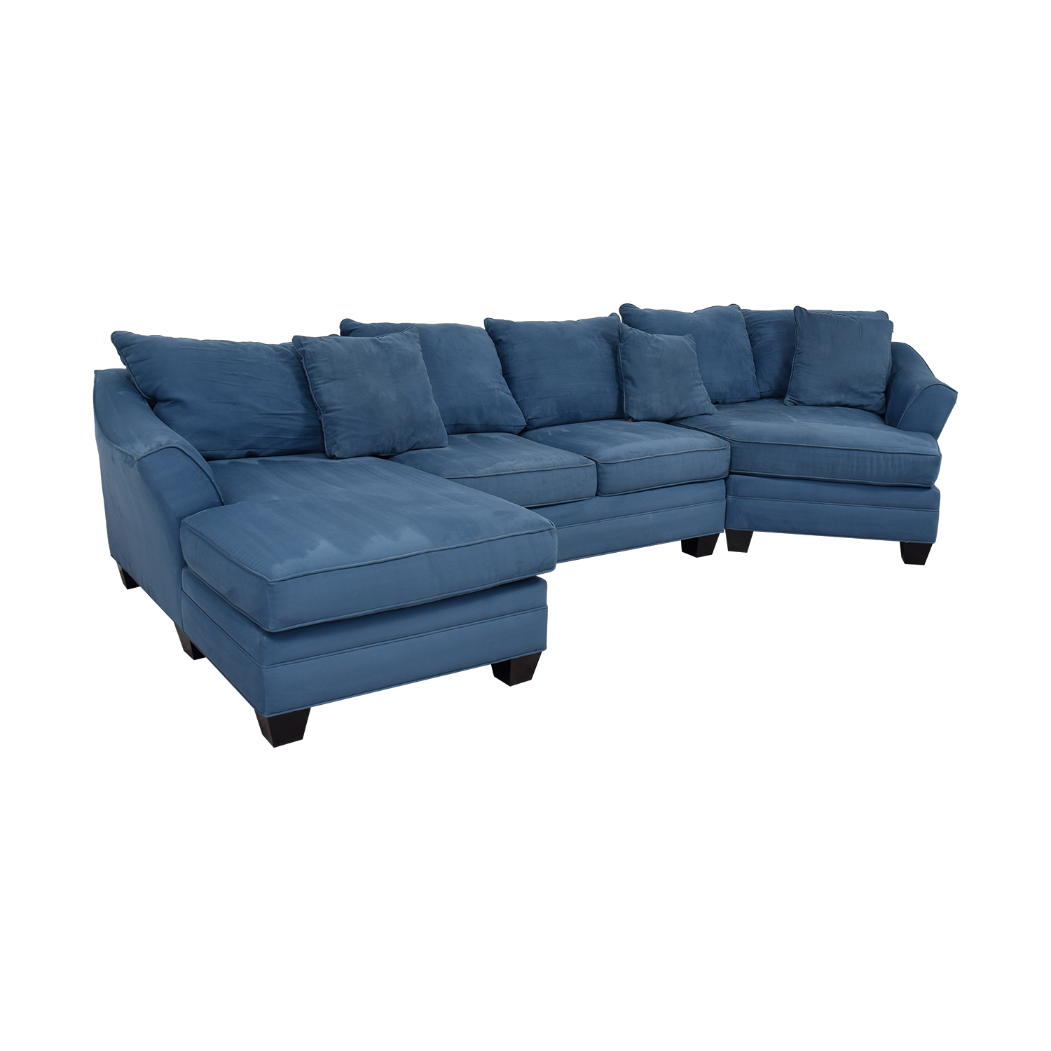 H.M. Richards H.M. Richards Foresthill Blue Microfiber Chaise and Corner Seat Sectional Blue