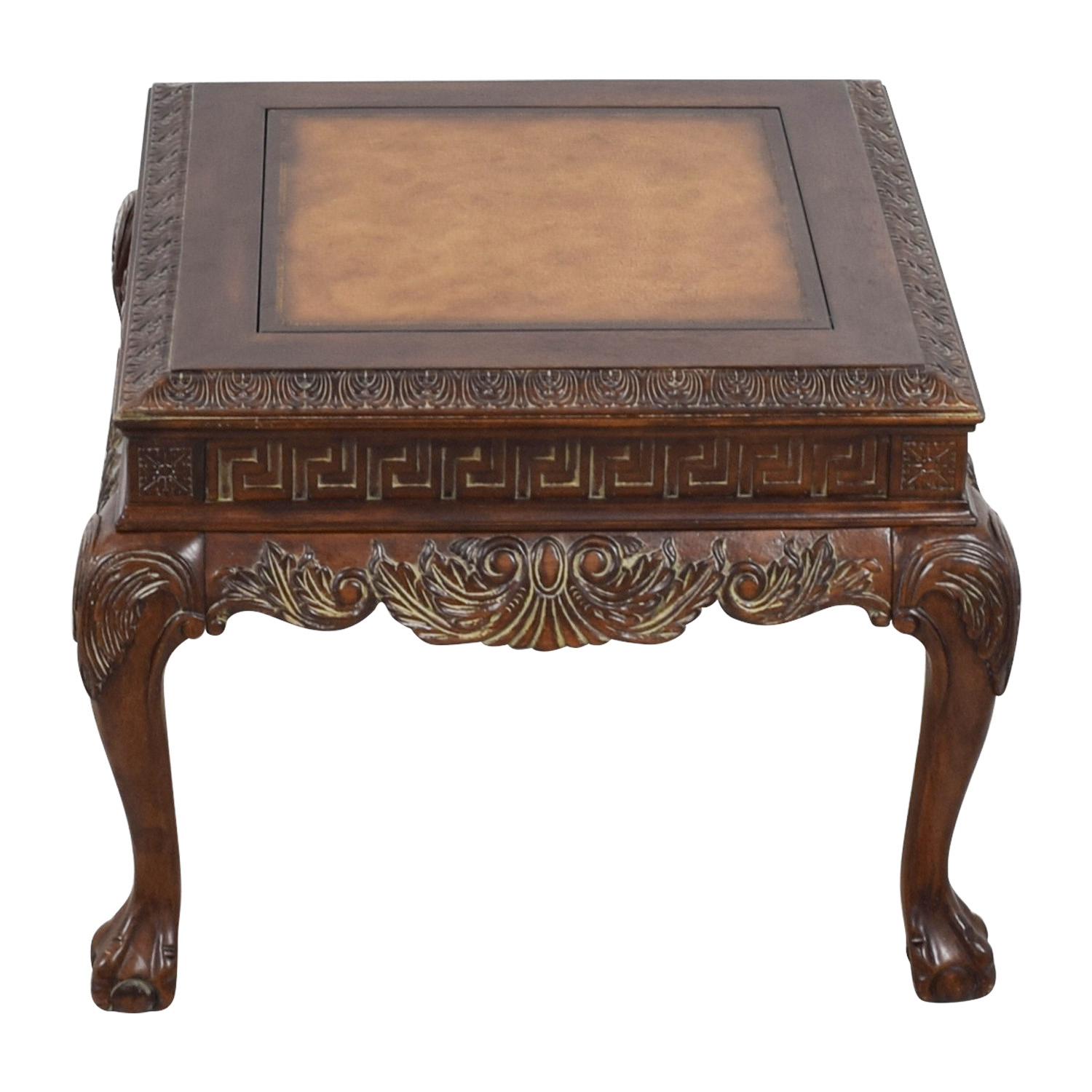 shop Distressed Wood Greek Keys Side Table  Sofas