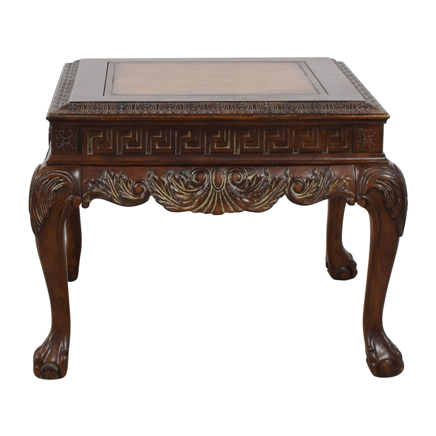 buy  Distressed Wood Greek Keys Side Table online