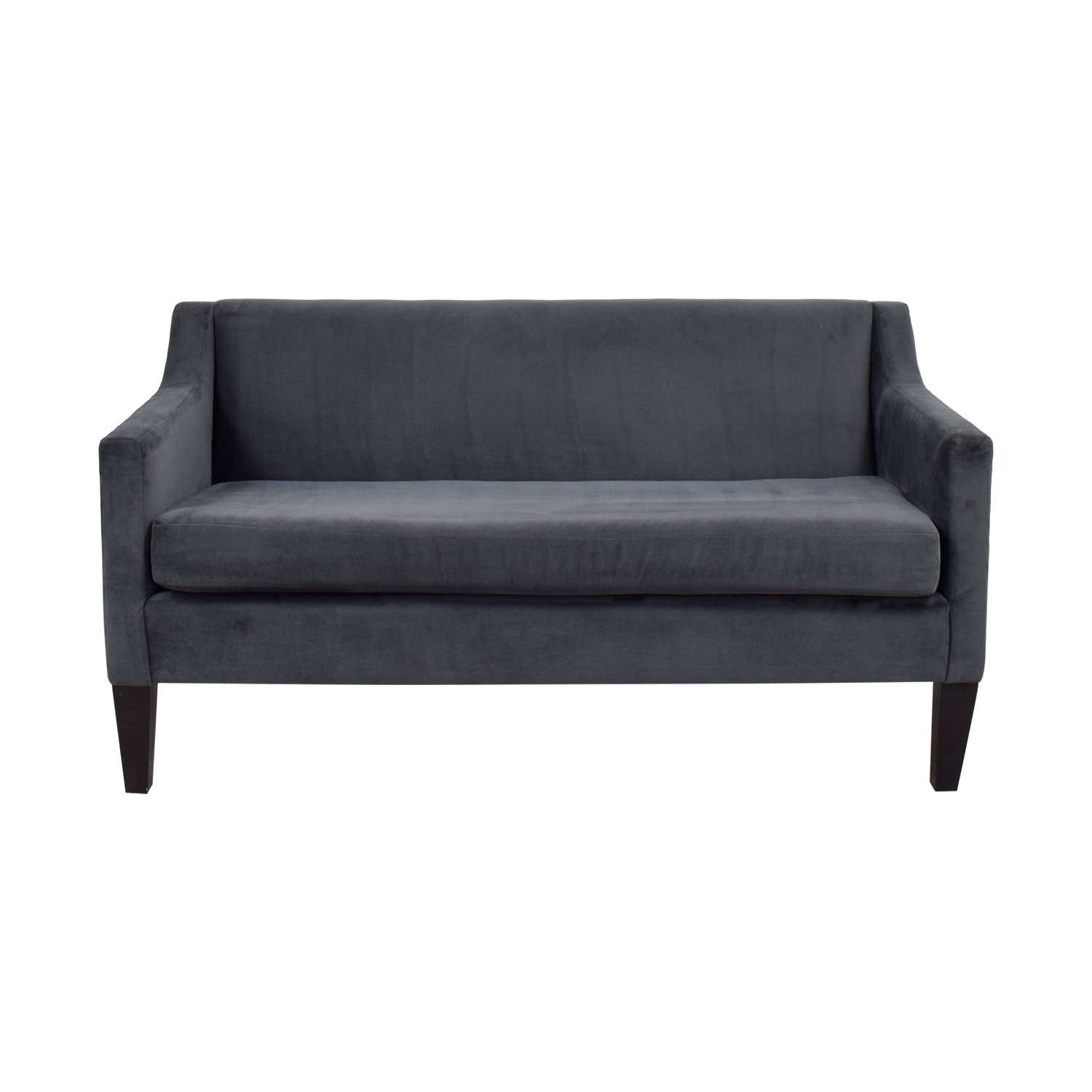 shop West Elm Blue Single-Cushion Couch West Elm Loveseats