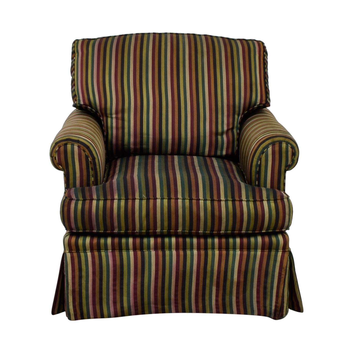 The Lane Company The Lane Company Pearson Stripe Chair dimensions