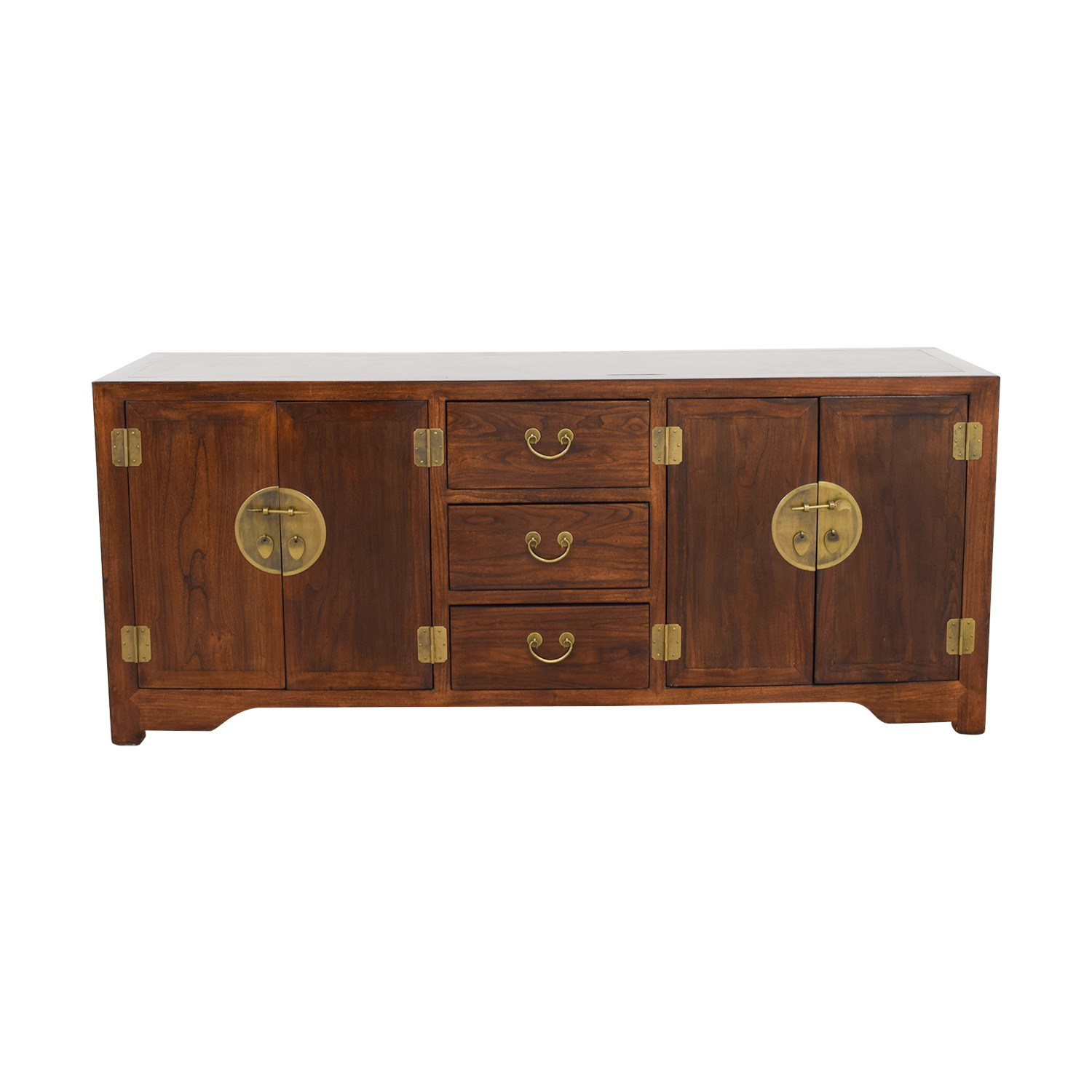 ABC Carpet and Home Asian-Inspired Wood Credenza / Storage