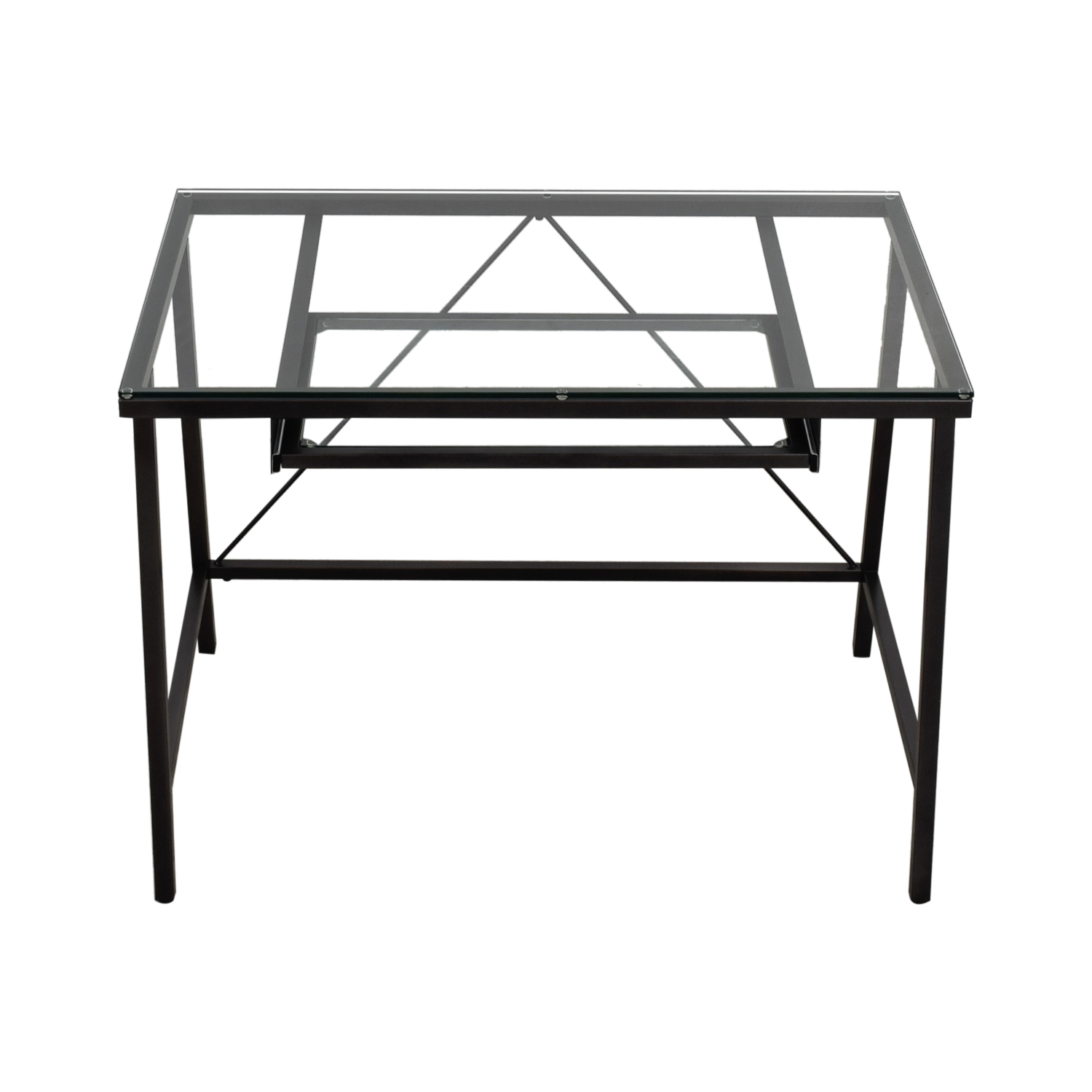 buy CB2 CB2 Dwight Steel and Glass Desk online