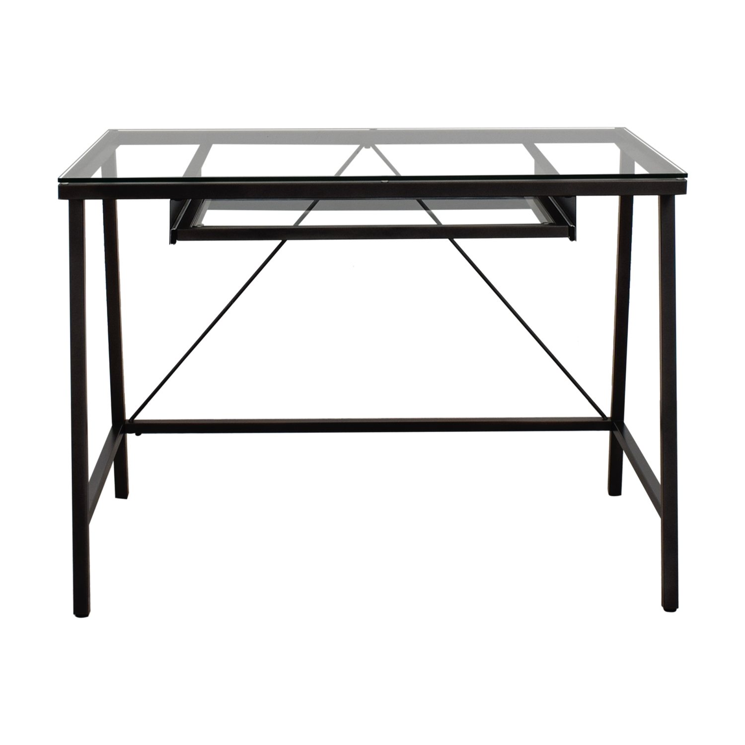 CB2 Dwight Steel and Glass Desk / Tables