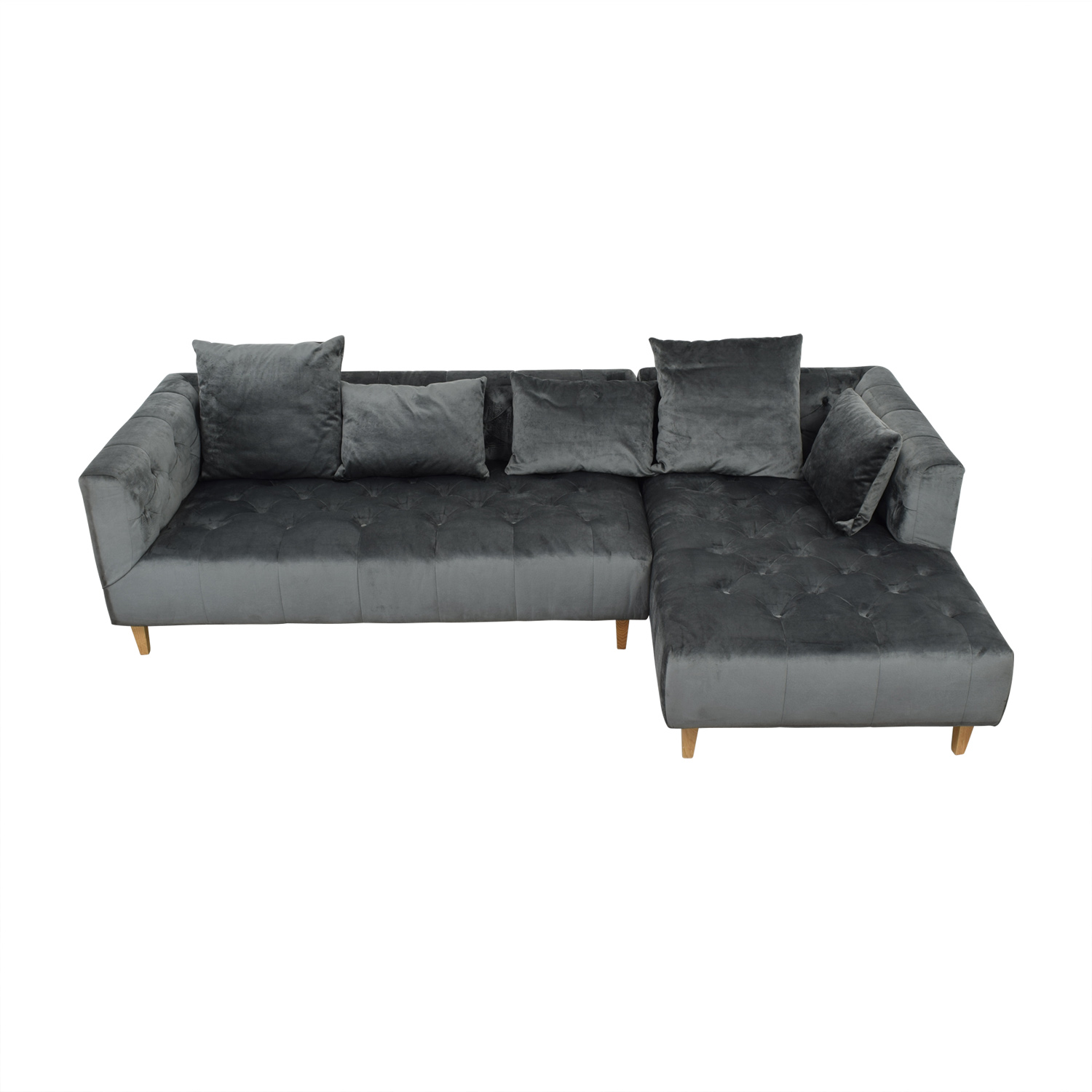 Ms. Chesterfield Right Chaise Sectional Sofas