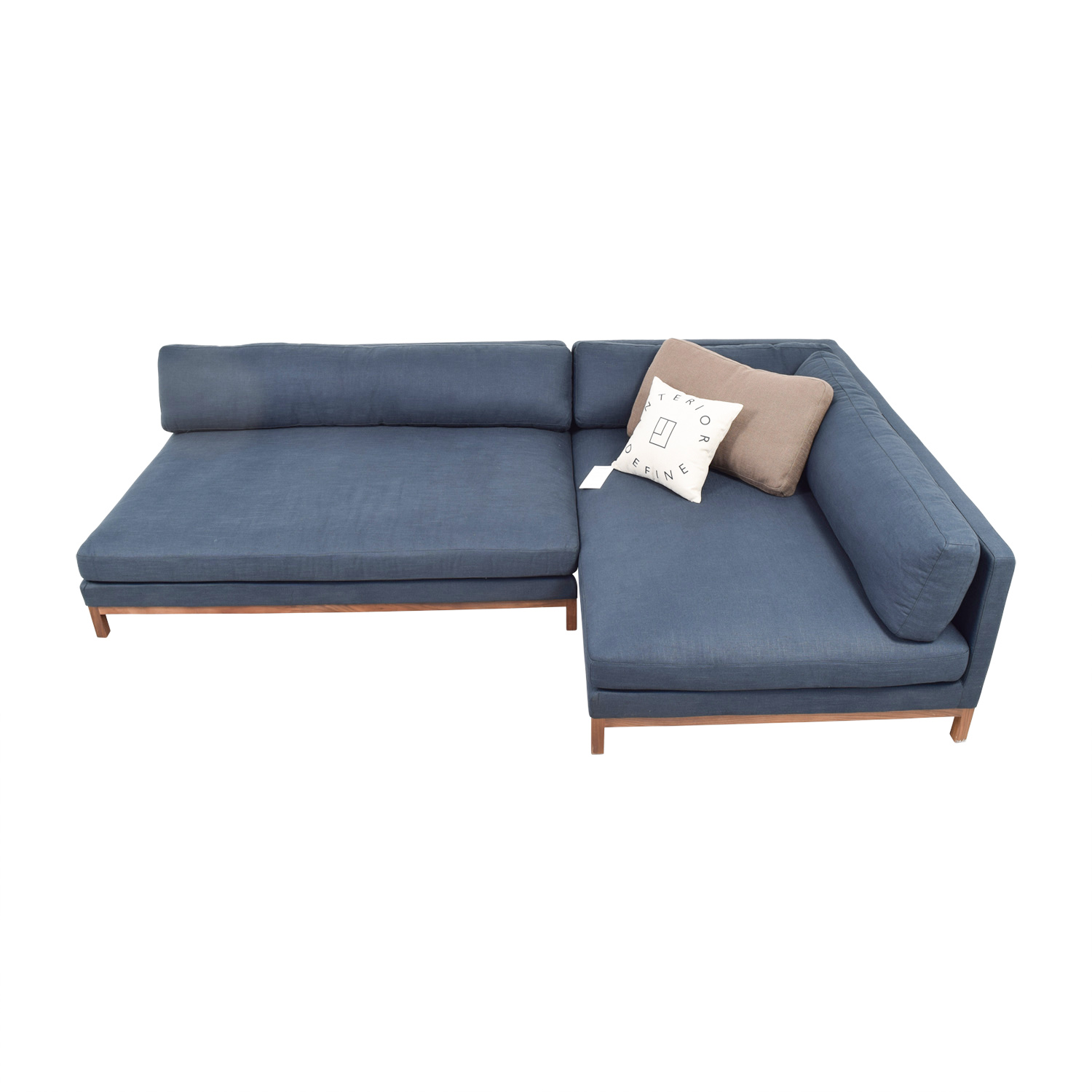 Jasper Blue Corner Chaise Sectional discount