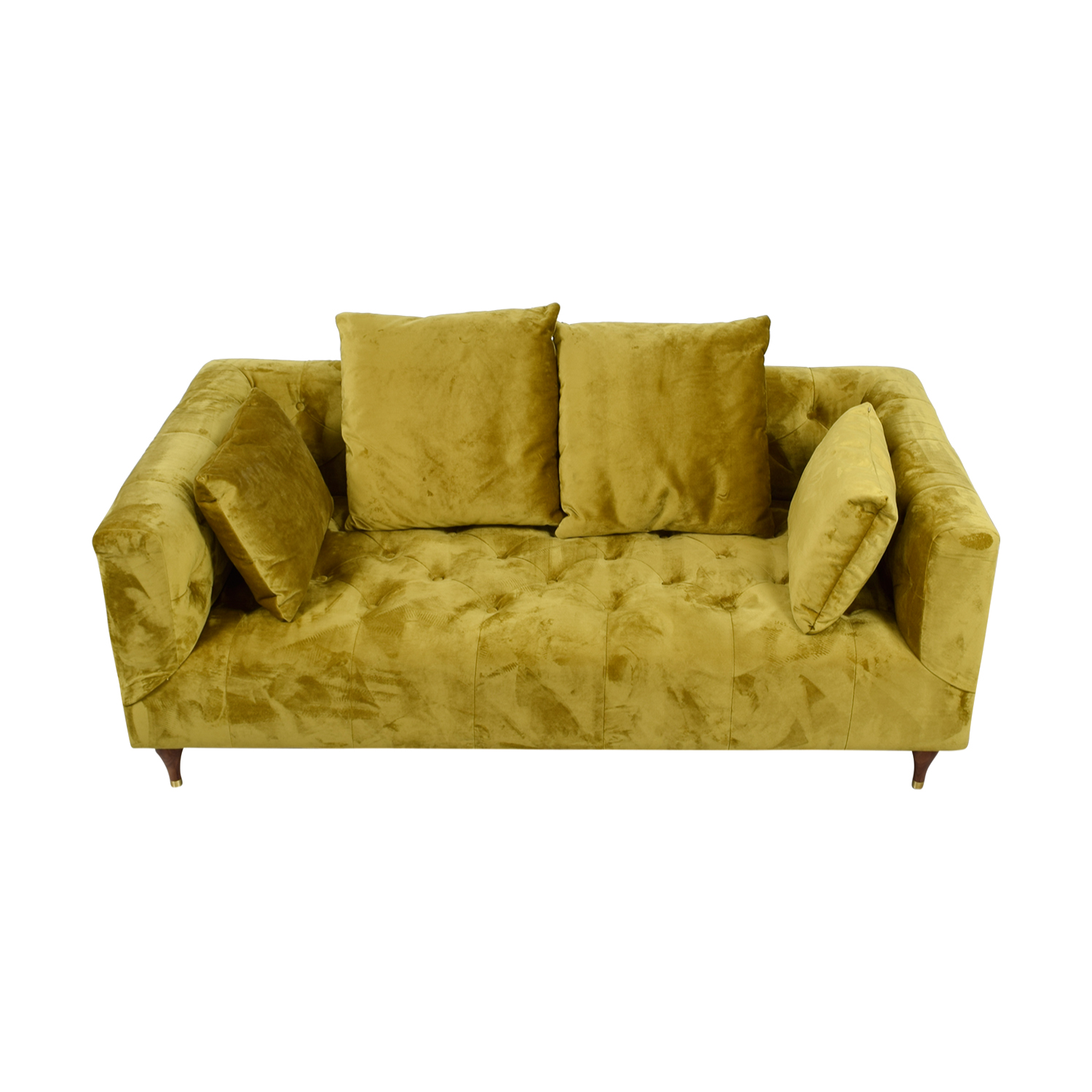 buy Ms. Chesterfield Citrine Tufted Sofa
