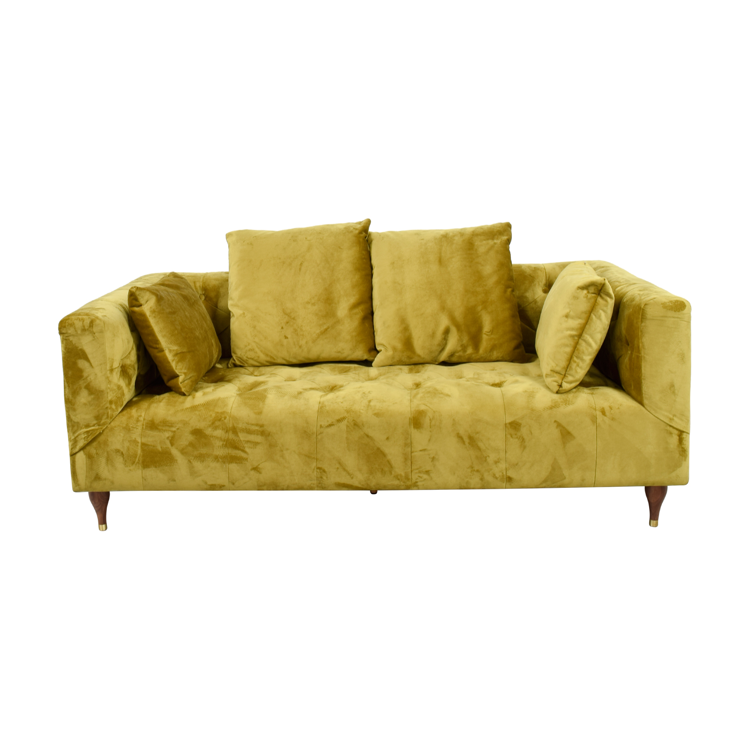 Ms. Chesterfield Citrine Tufted Sofa discount