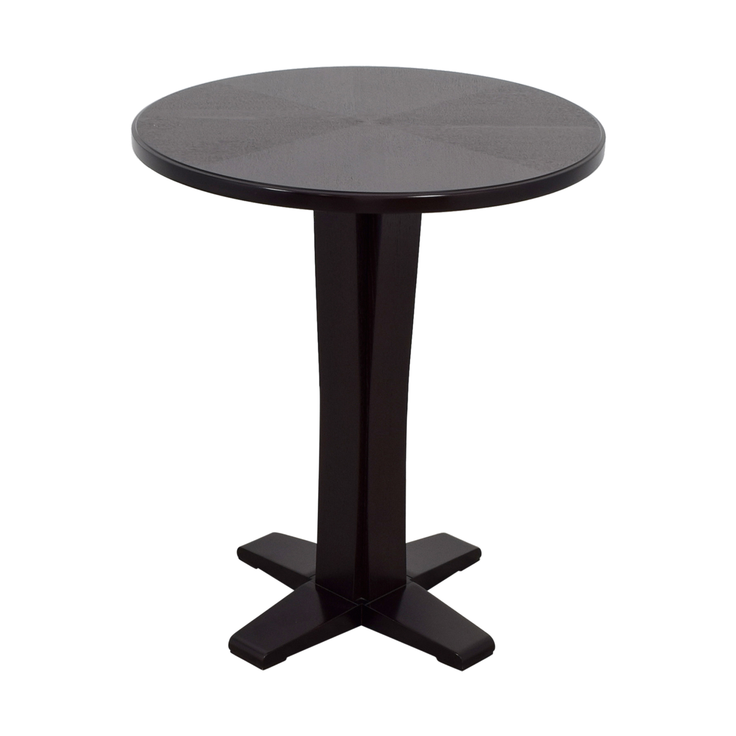 Crate & Barrel Wood Bar Top Table / Accent Tables