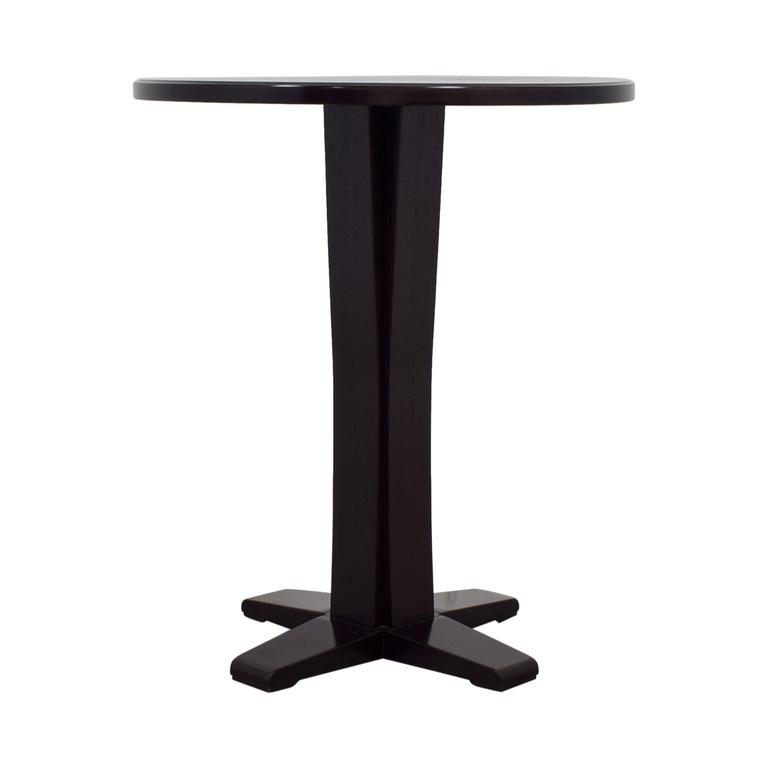 Crate & Barrel Wood Bar Top Table sale