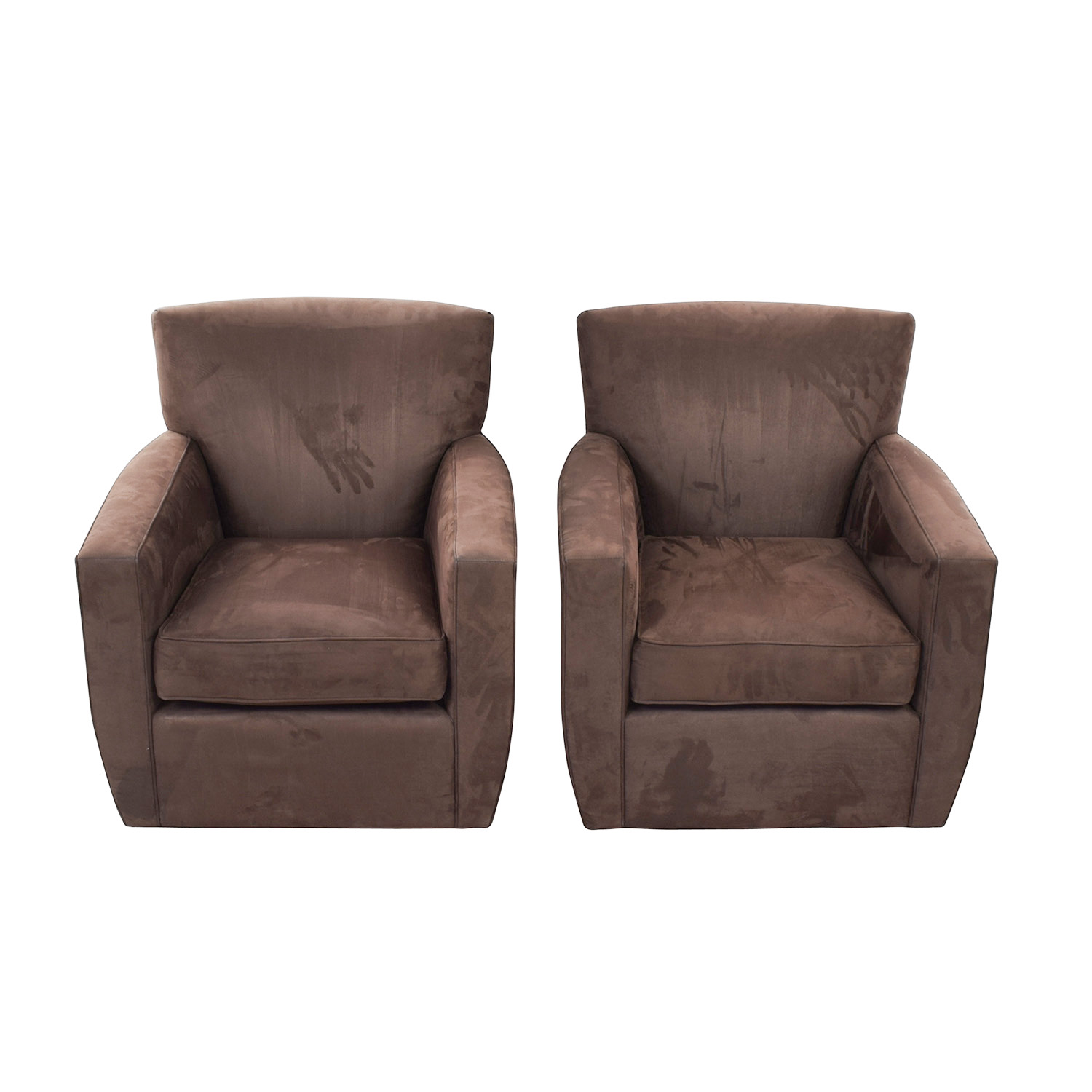Delicieux 88% OFF   Crate U0026 Barrel Crate U0026 Barrel Clara Brown Swivel Chairs / Chairs