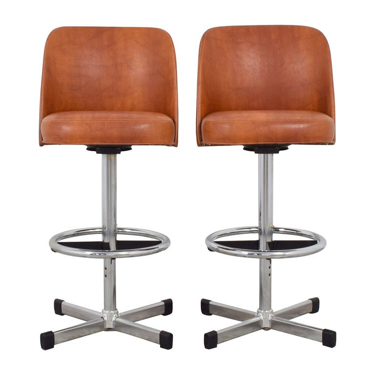 Astounding Buy Vintage Leather Bar Stool Second Hand Furniture Store Inzonedesignstudio Interior Chair Design Inzonedesignstudiocom