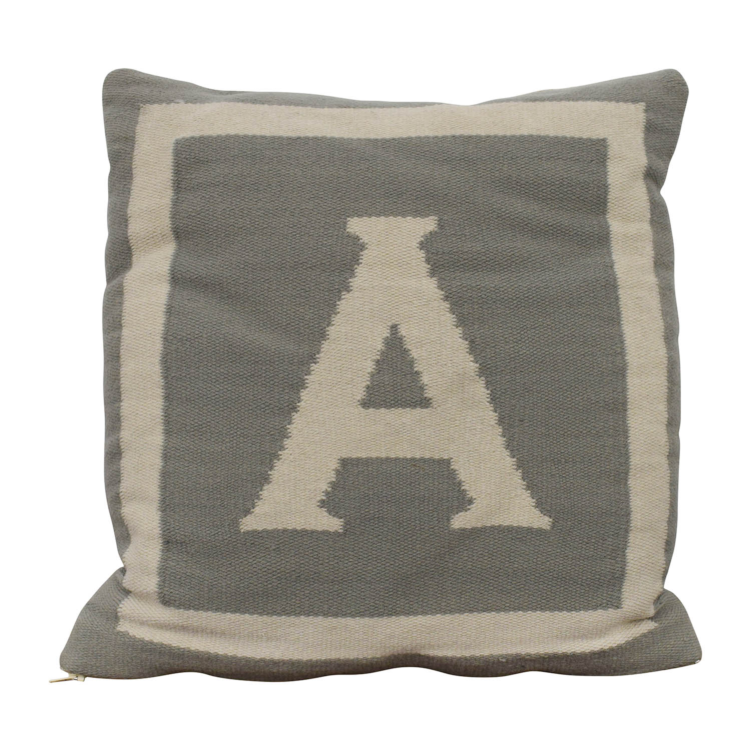 "Jonathan Adler Jonathan Adler Reversible Monogram ""A"" Pillow second hand"