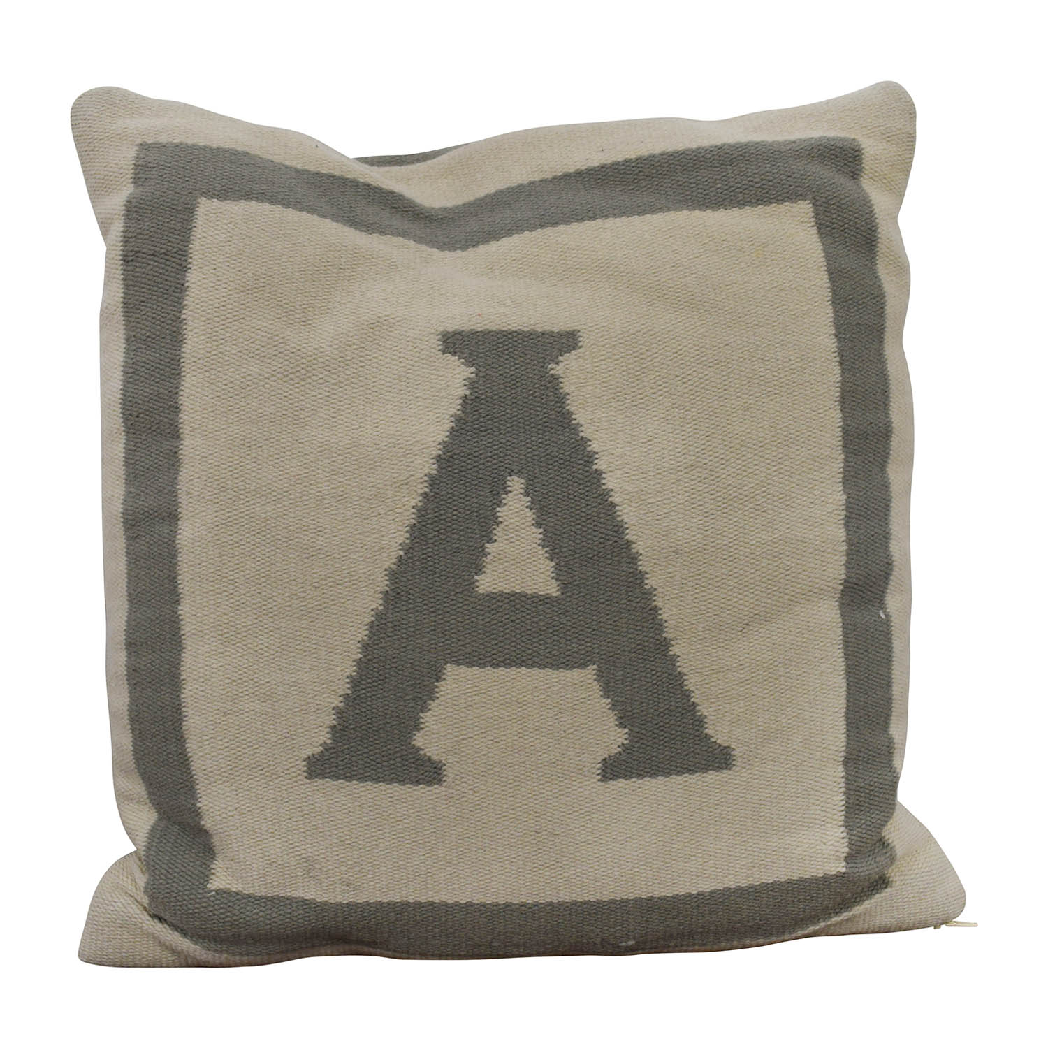 "Jonathan Adler Reversible Monogram ""A"" Pillow / Decorative Accents"