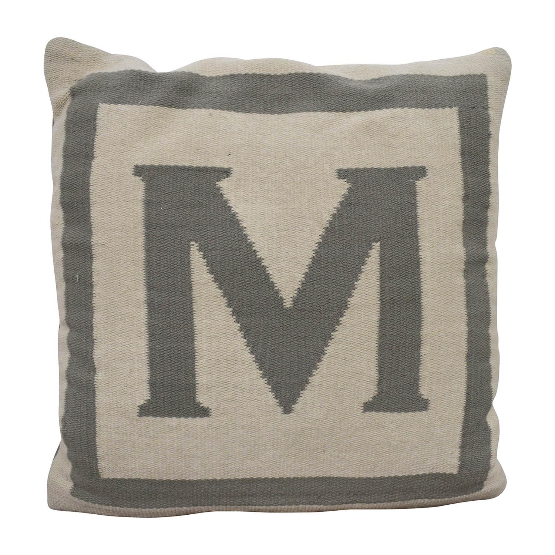 """Jonathan Adler Jonathan Adler Reversible Monogram """"M"""" Pillow discount"""