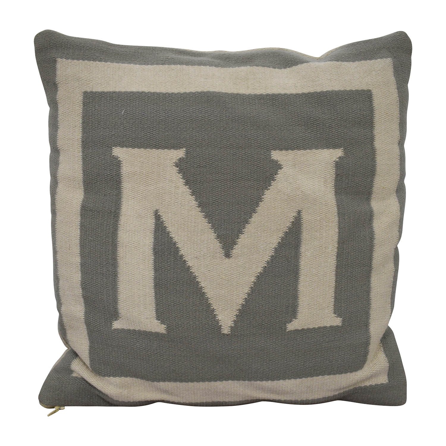 "shop Jonathan Adler Reversible Monogram ""M"" Pillow Jonathan Adler"