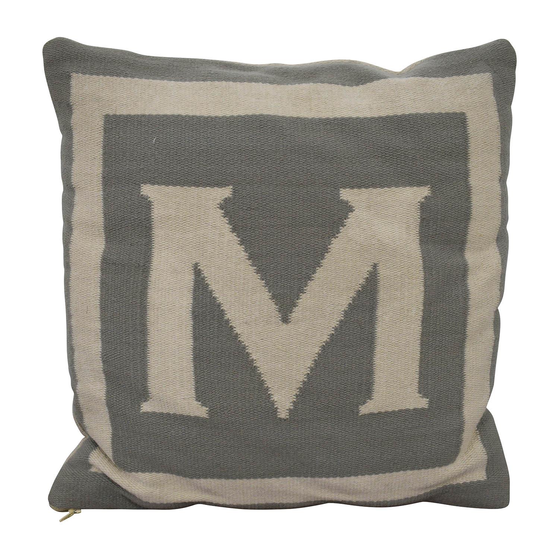 "Jonathan Adler Jonathan Adler Reversible Monogram ""M"" Pillow dimensions"